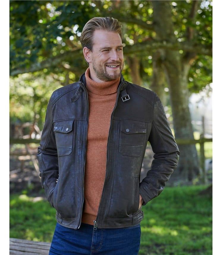 Wansfell Leather Biker Jacket