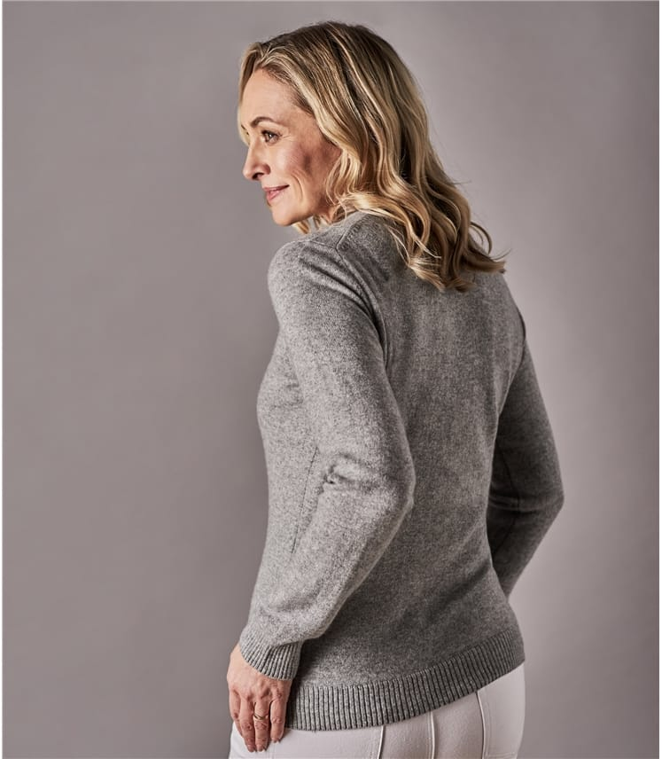 Pull à col rond - Femme - Pur Cachemire