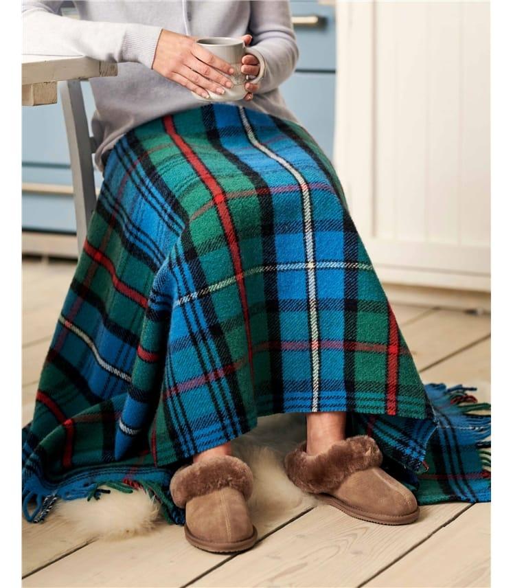 Pure Wool Tartan Knee Blanket