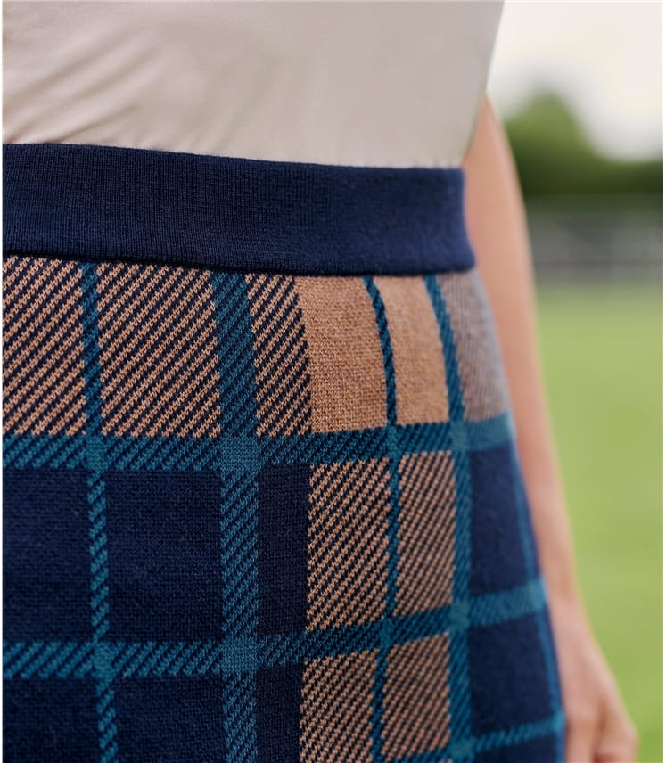 Womens Check Skirt