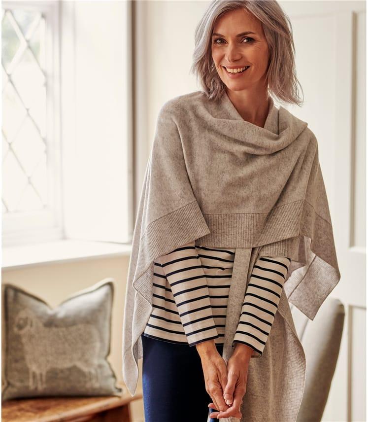Cashmere & Merino Blend Blanket Wrap