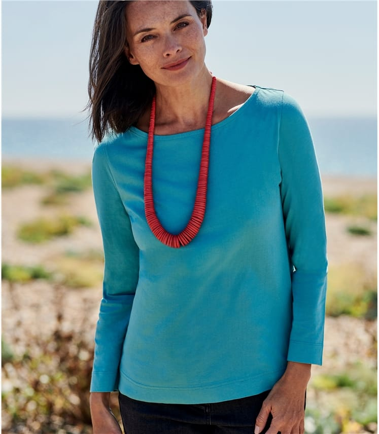 Womens Organic Cotton Boat Neck