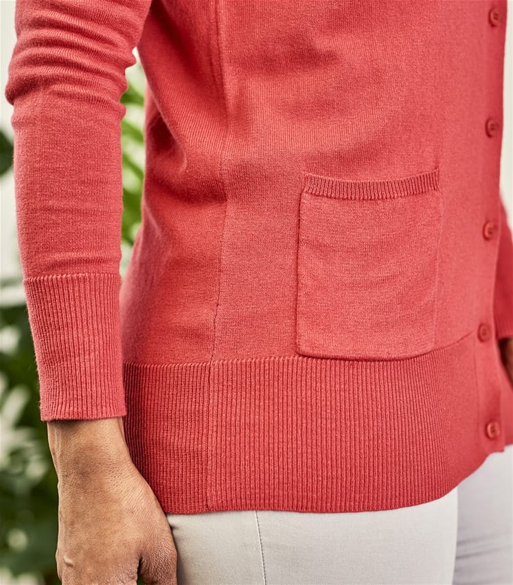 Womens Silk and Cotton Long Cardigan