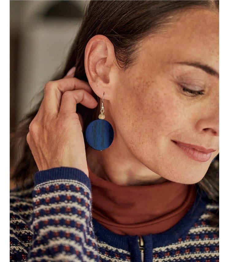 Disc Drop Earring