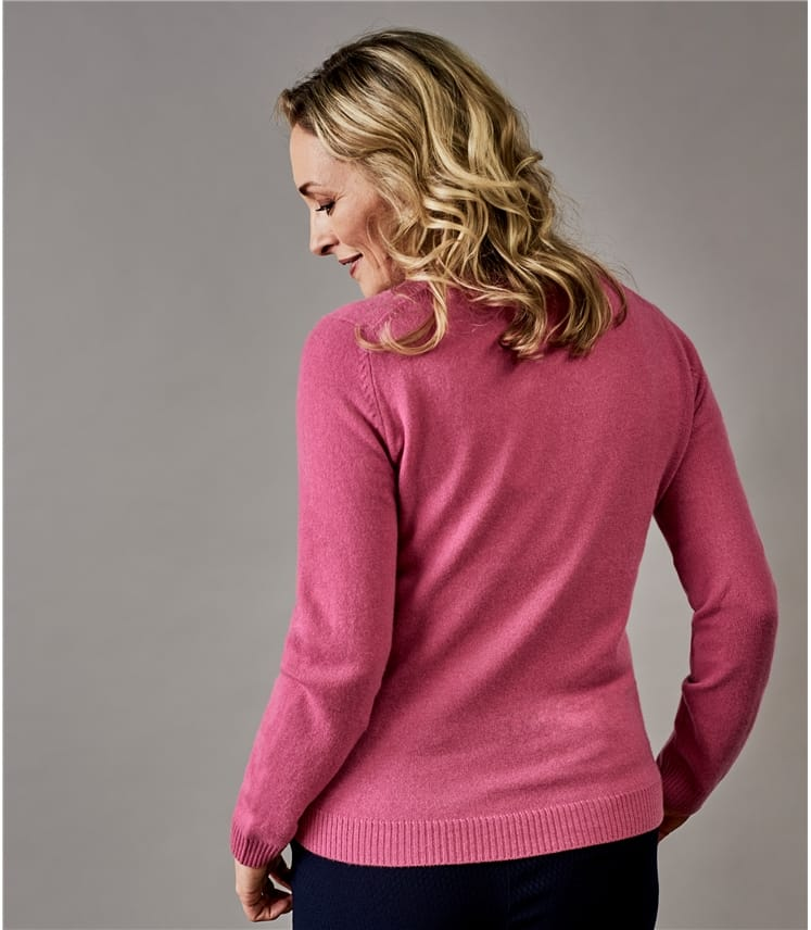 Womens Pure Cashmere Crew Neck Jumper