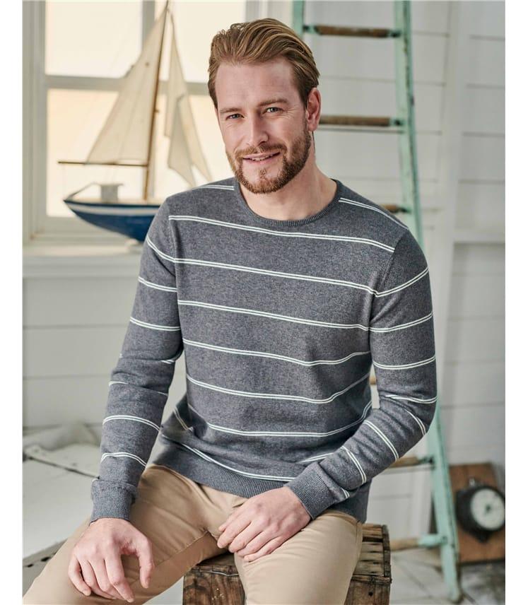 Organic Cotton Cashmere Stripe Jumper