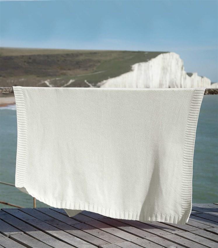 Couverture en point mousse - Pur Coton