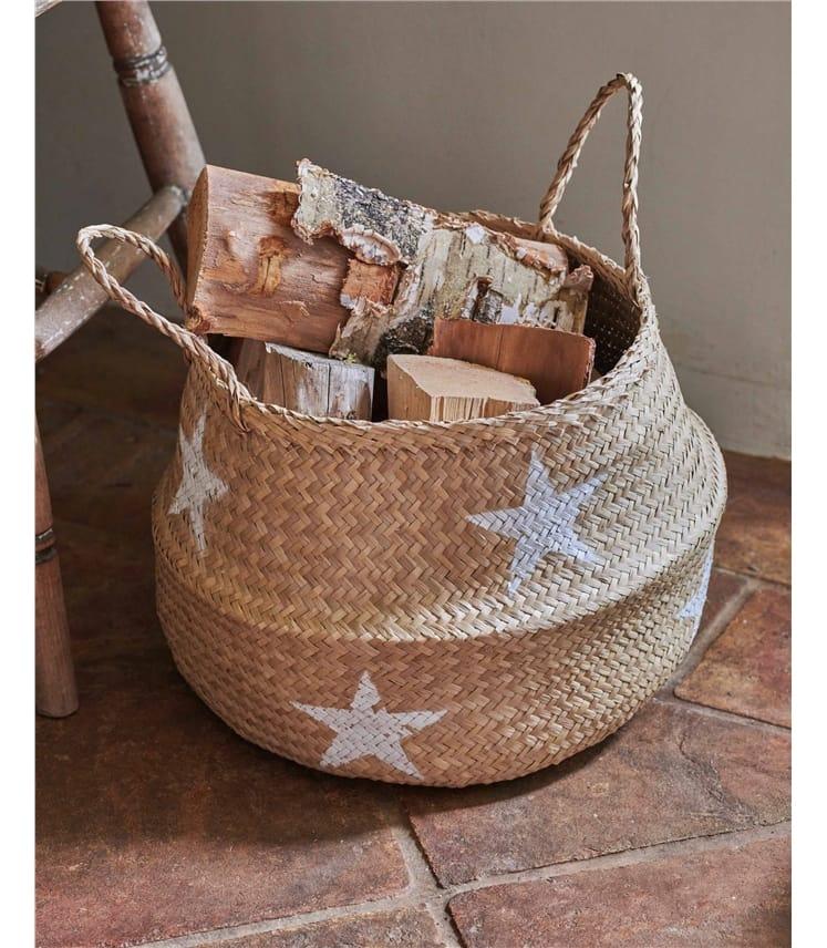 Star Seagrass Basket