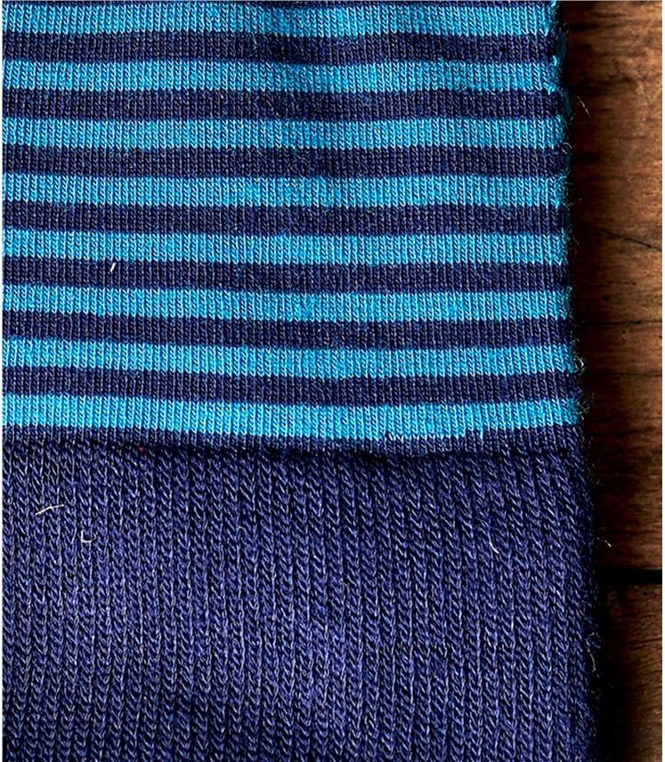 Chaussettes rayées - Homme - Bamboo mélangé