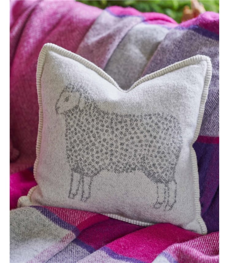 Reversible Pure Wool Cushion Cover