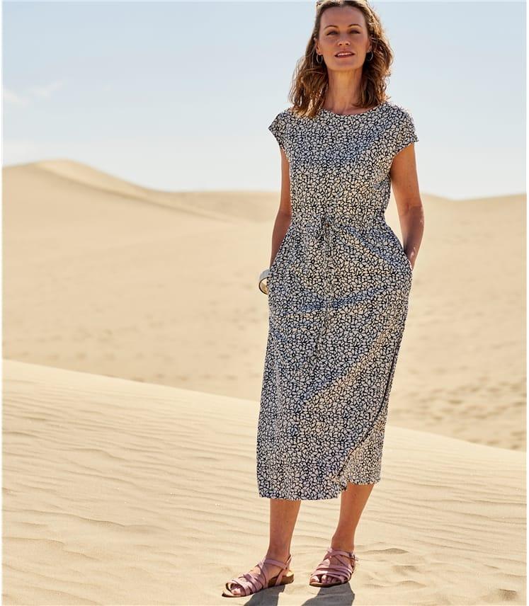 Womens Grown On Sleeve Jersey Dress