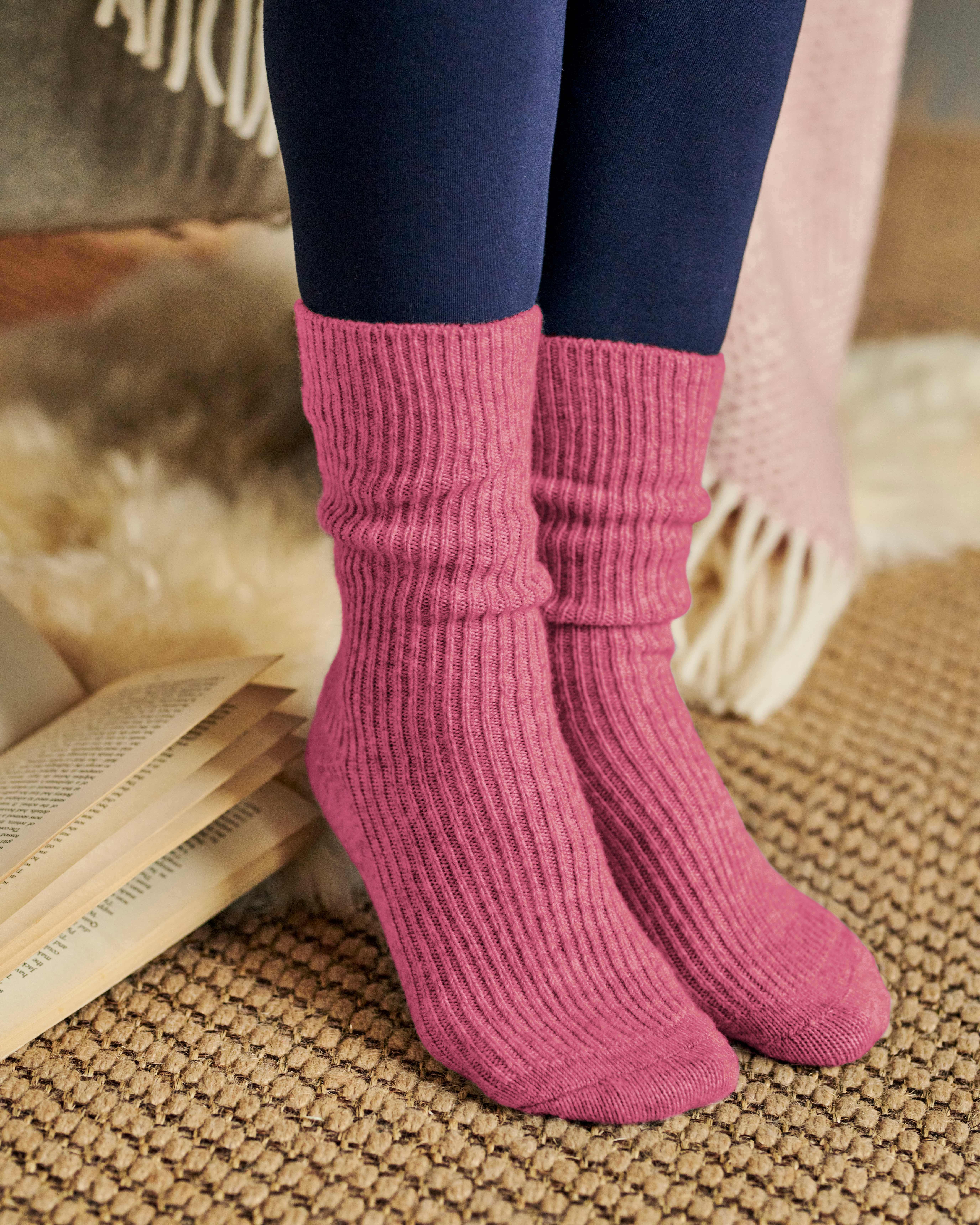 Womens Cashmere and Merino Socks