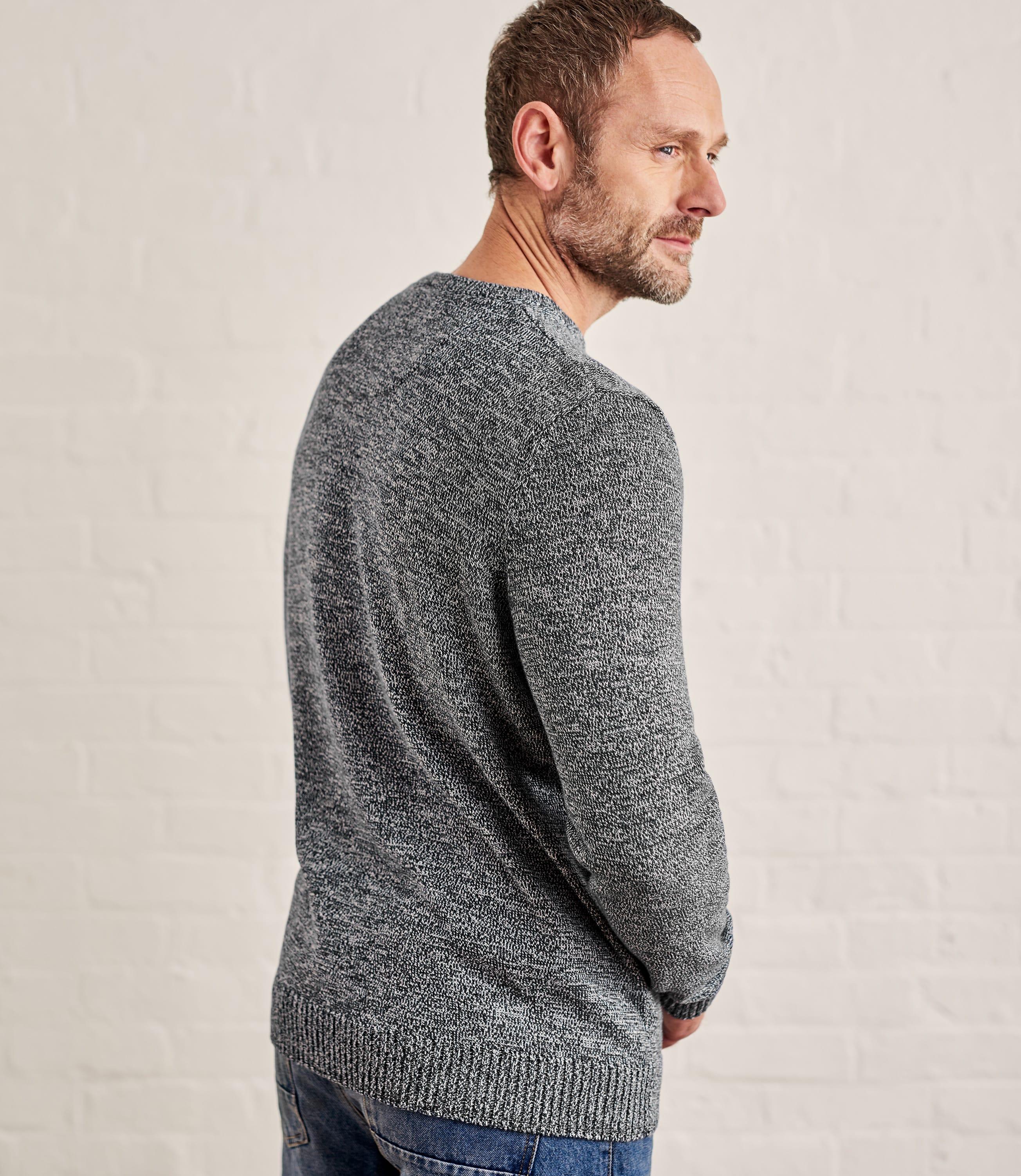 Mens 100% Cotton Crew Neck Sweater