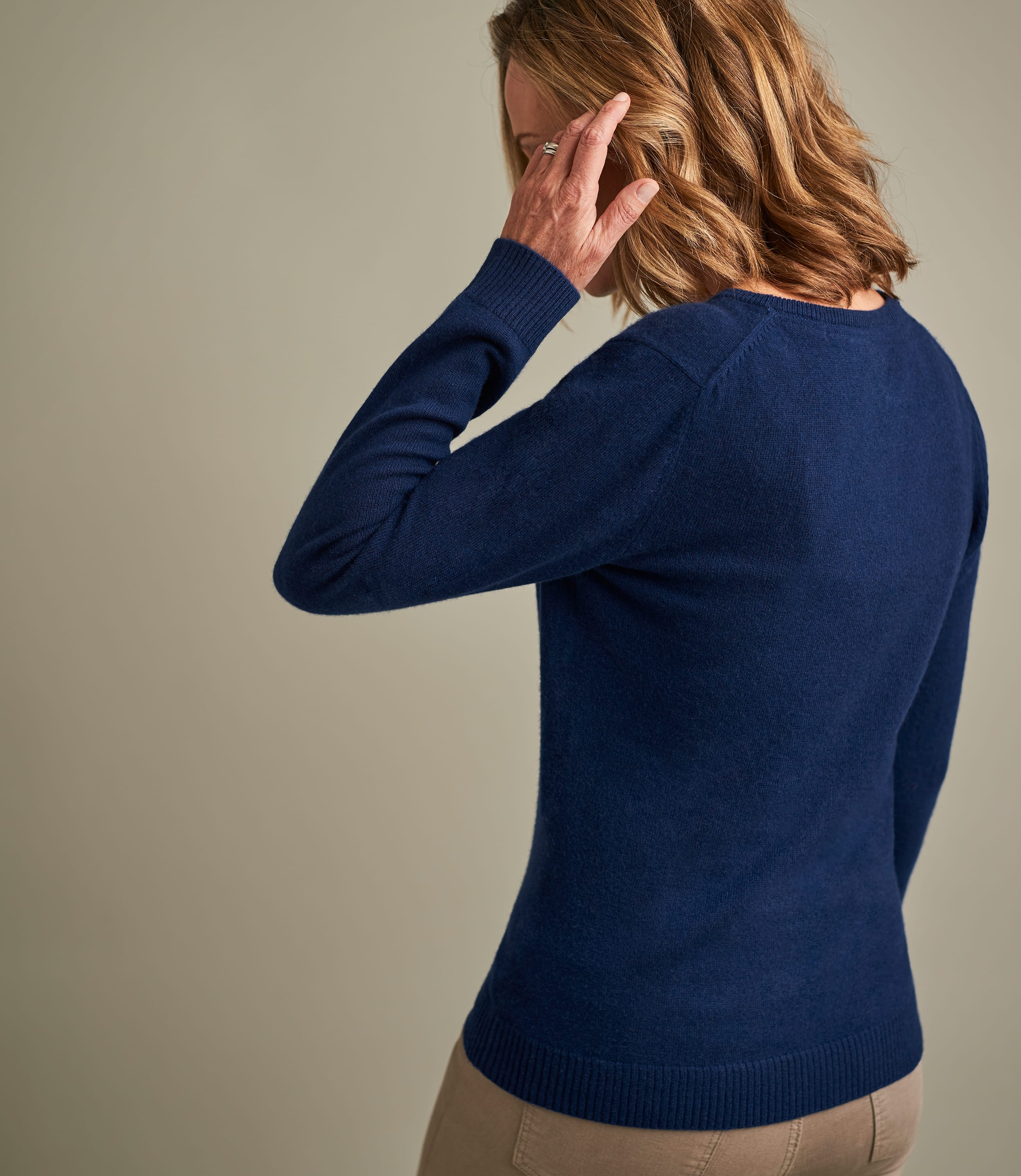 Womens Pure Cashmere V Neck Sweater