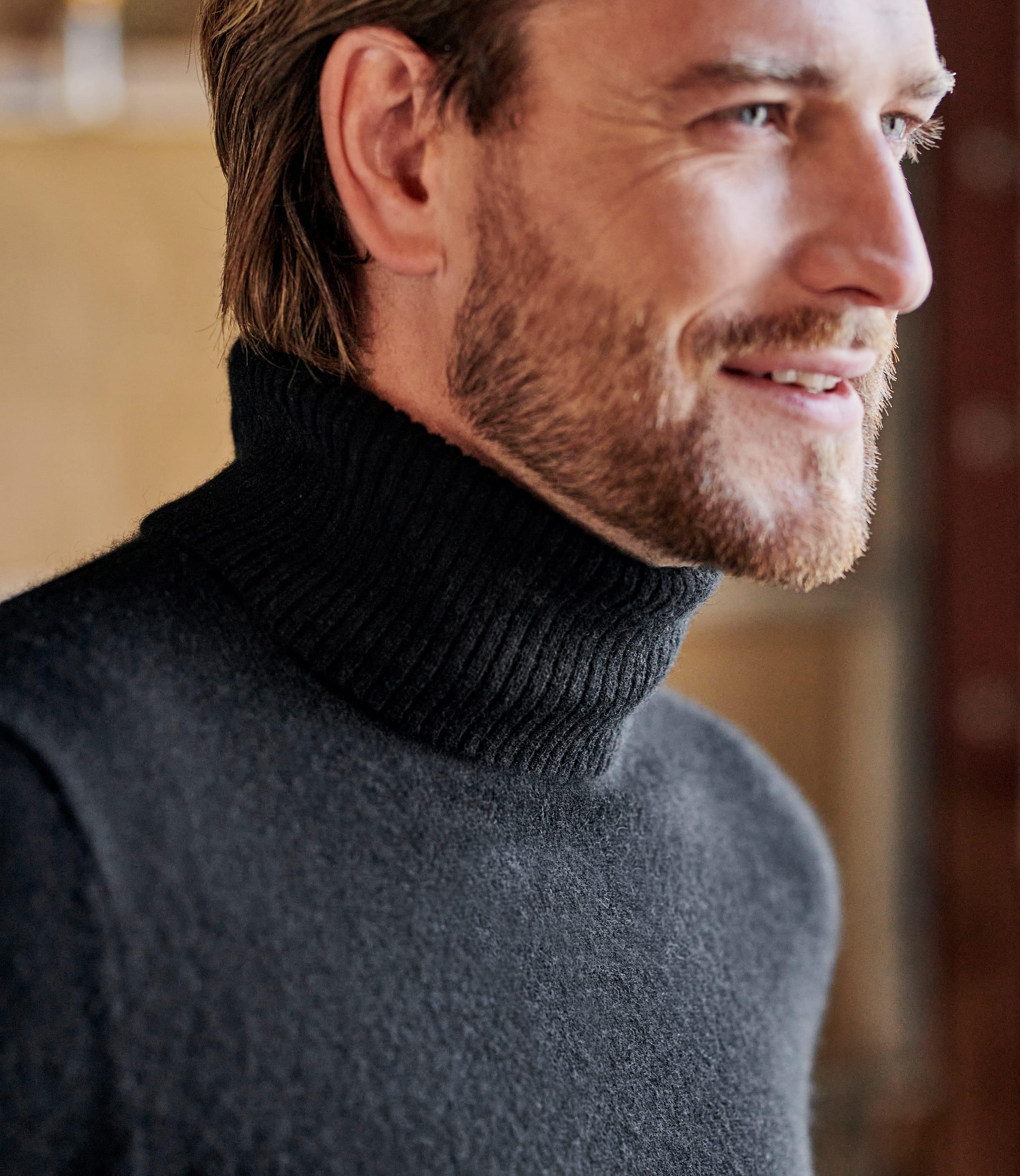 Pure Cashmere Turtle Neck Sweater