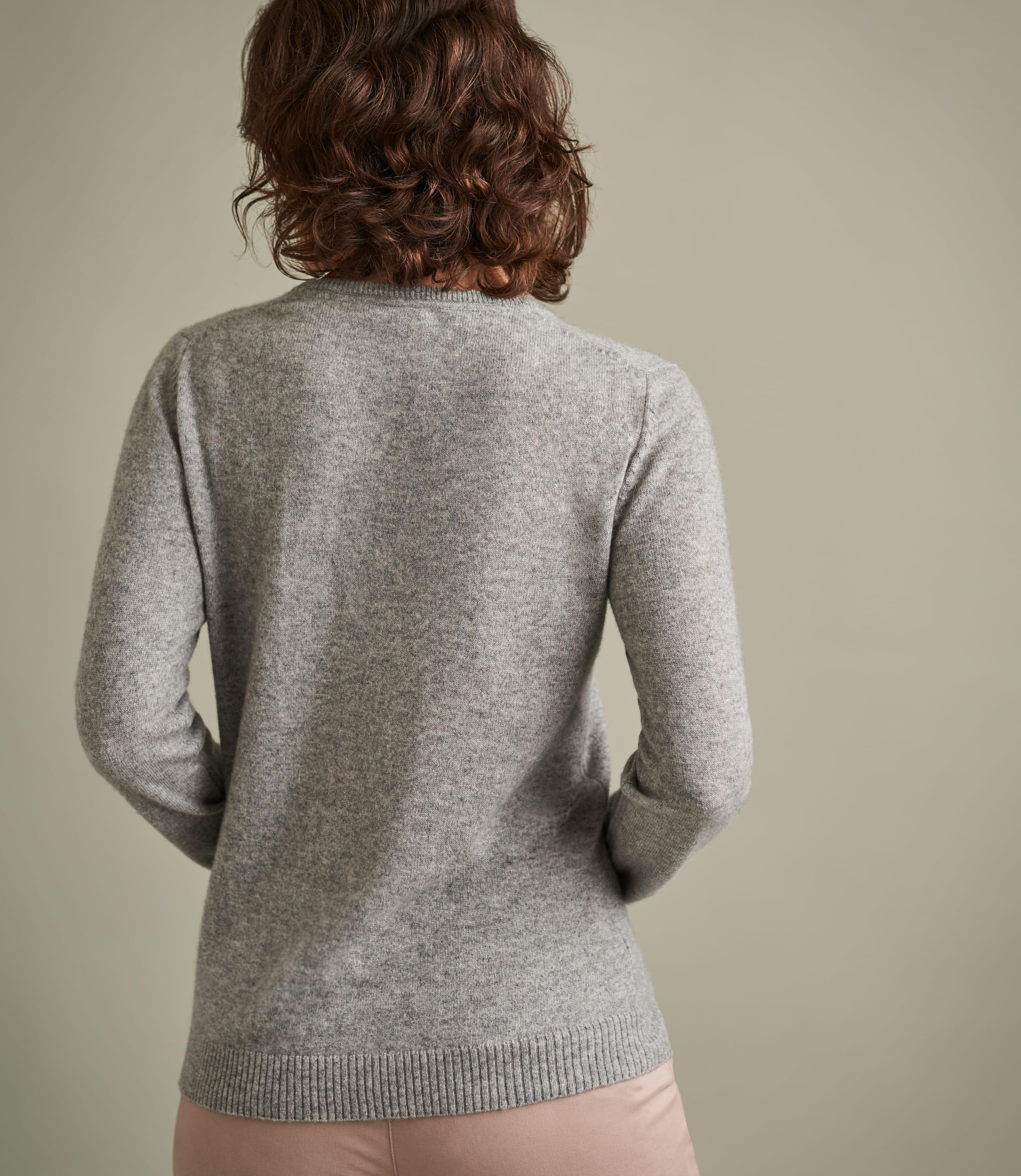 Womens Pure Cashmere V Neck Jumper
