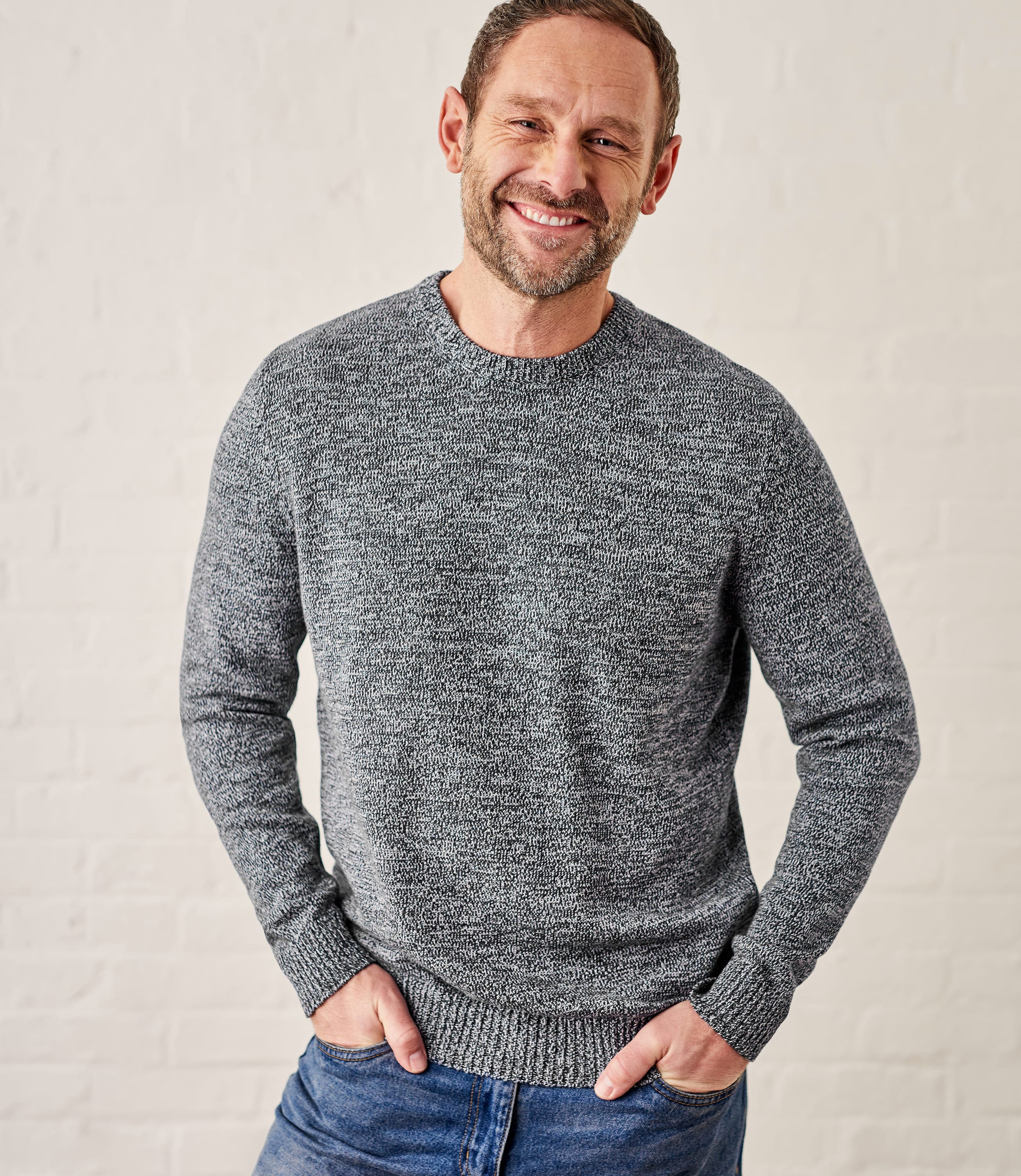 Pull à col rond - Homme - Pur Coton