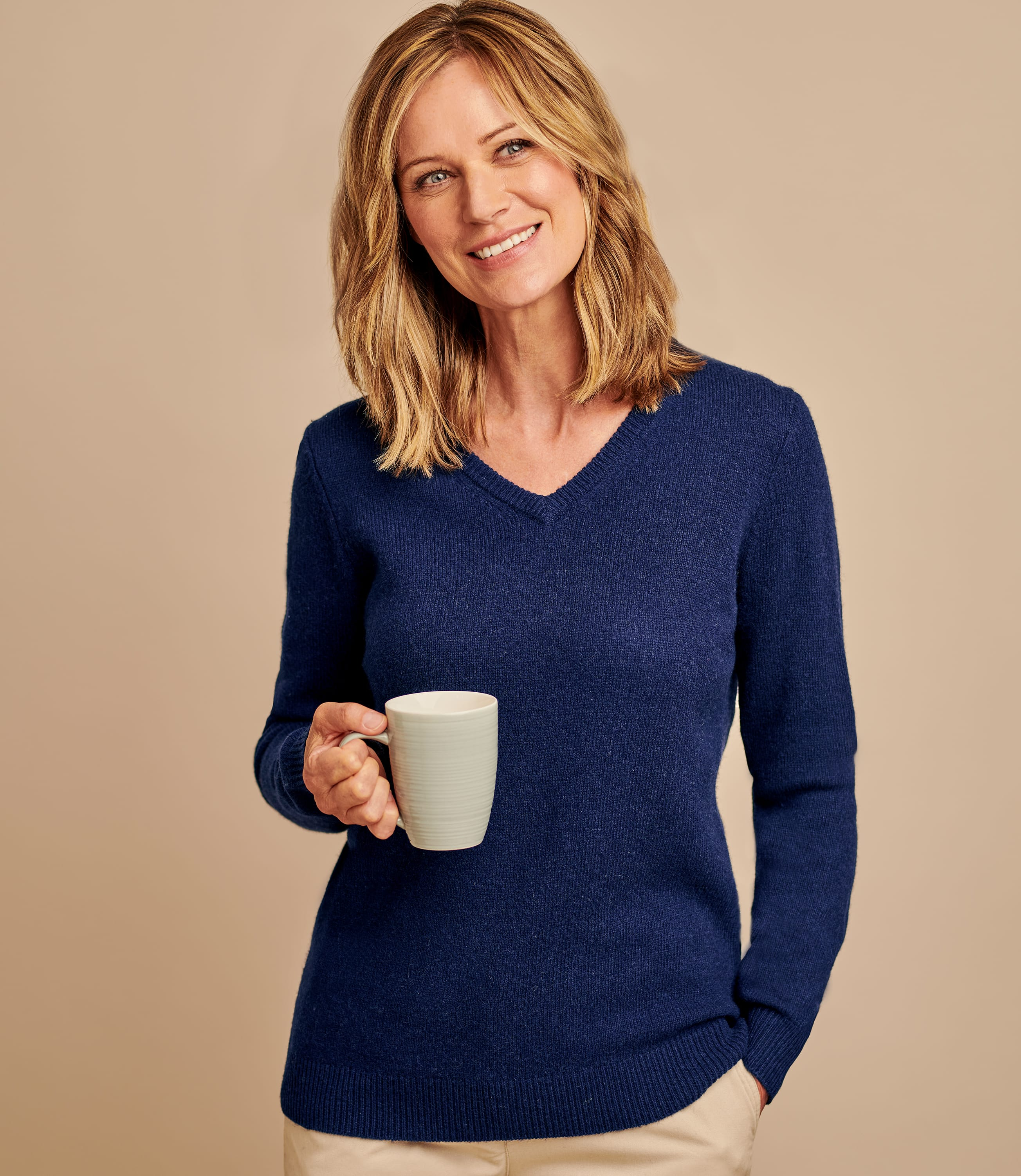 Lambswool Classic V Neck Sweater