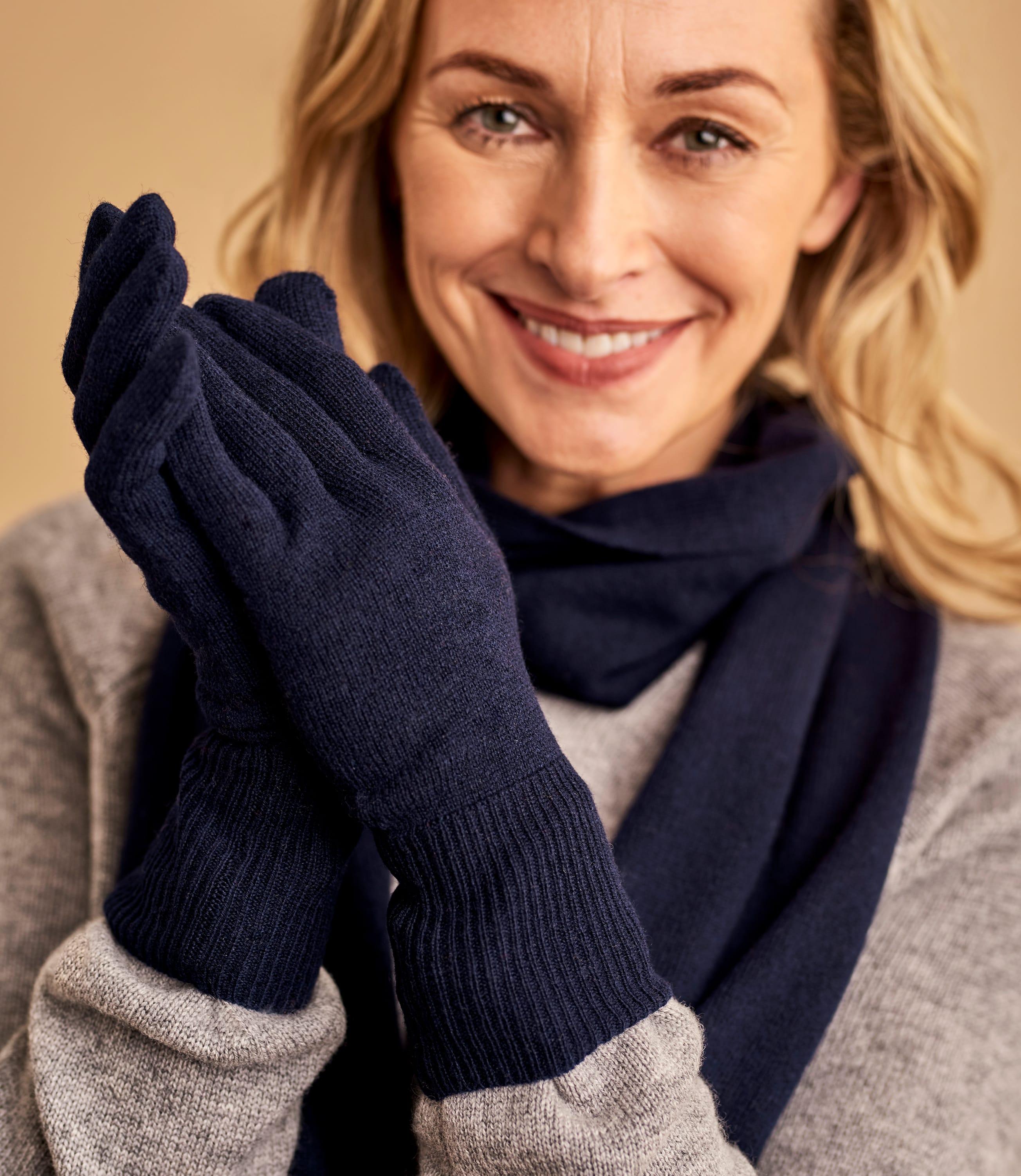 Womens Classic Cashmere & Merino Gloves