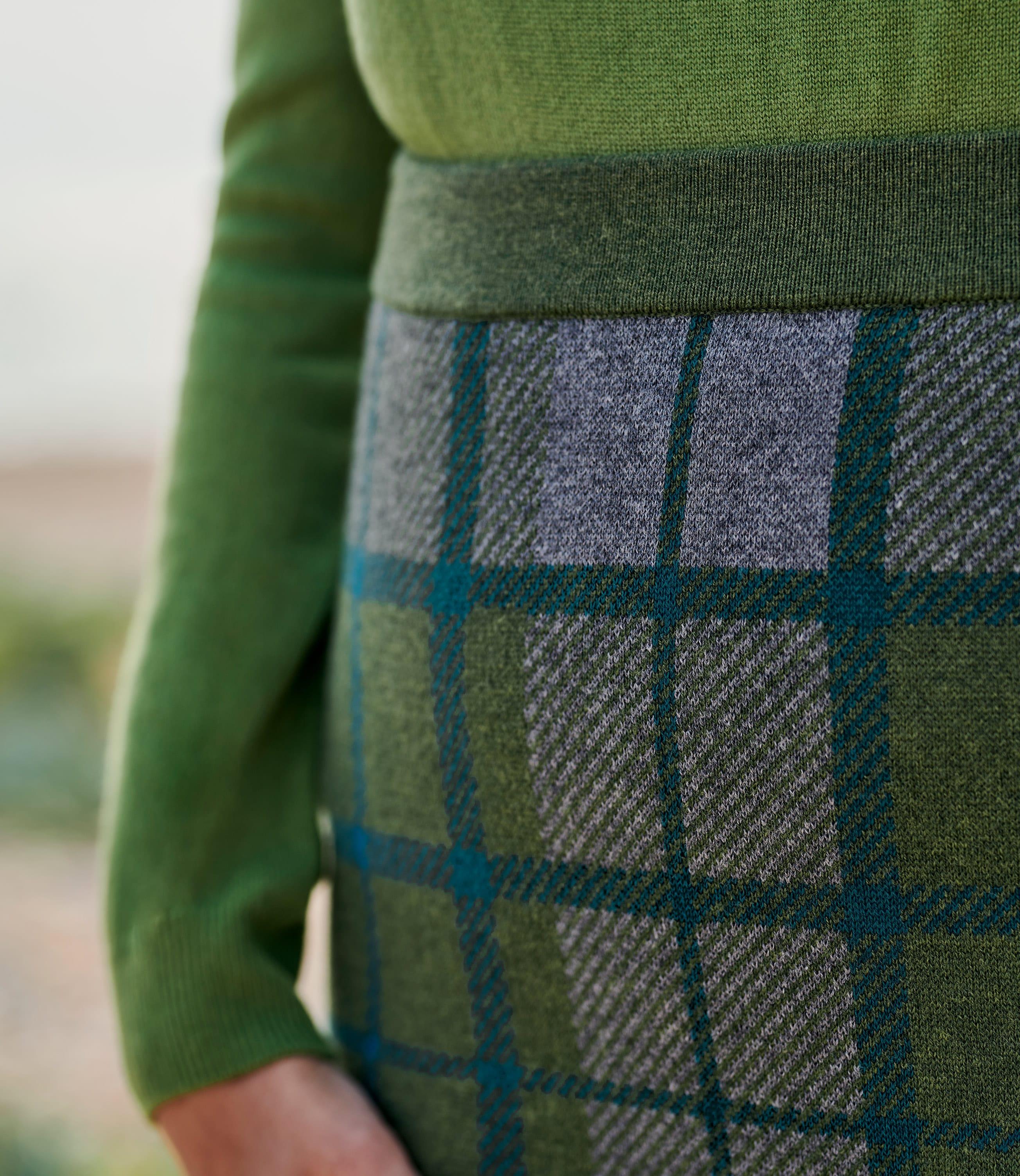 Womens Check Skirt