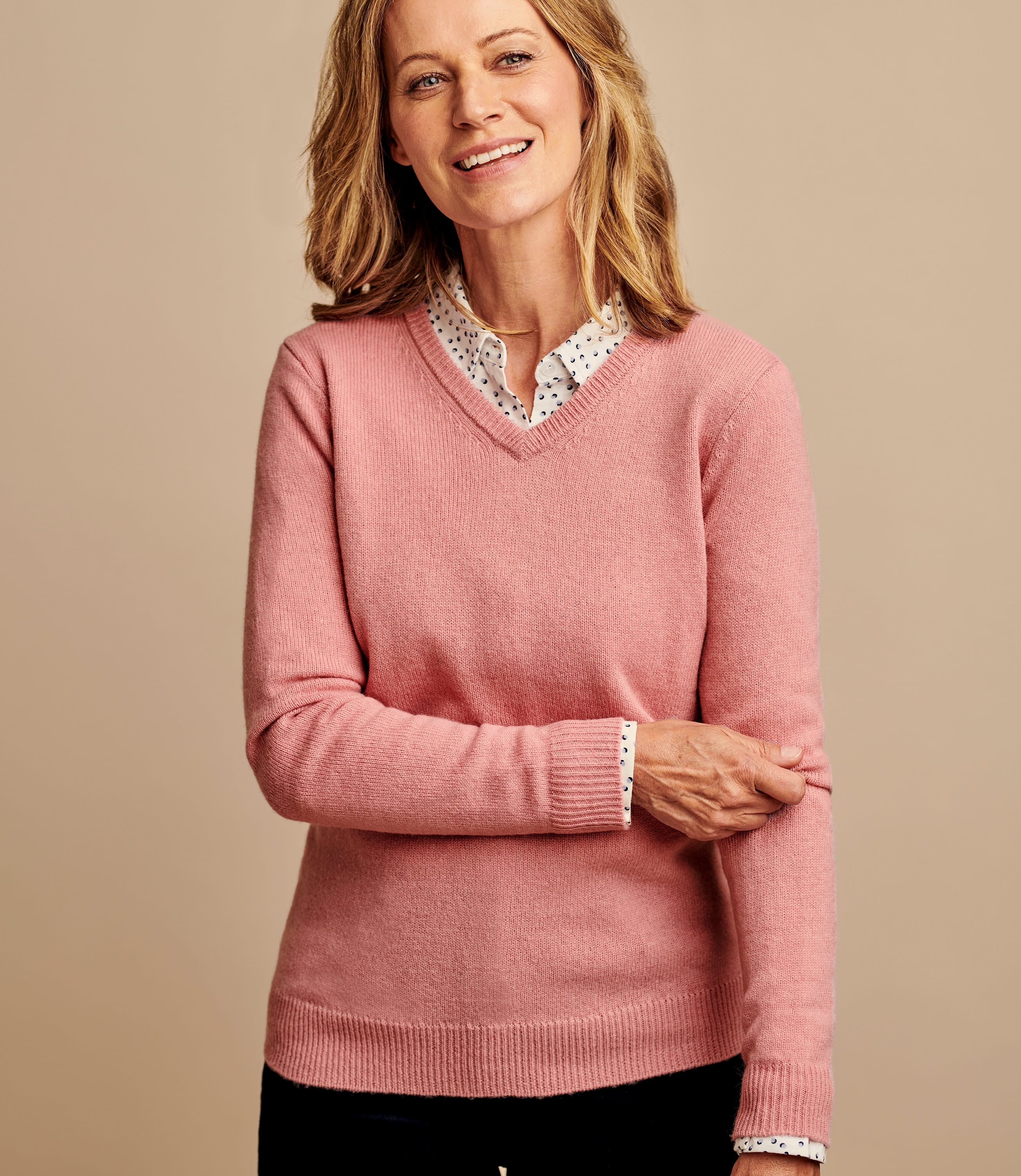 Lambswool Classic V Neck Jumper