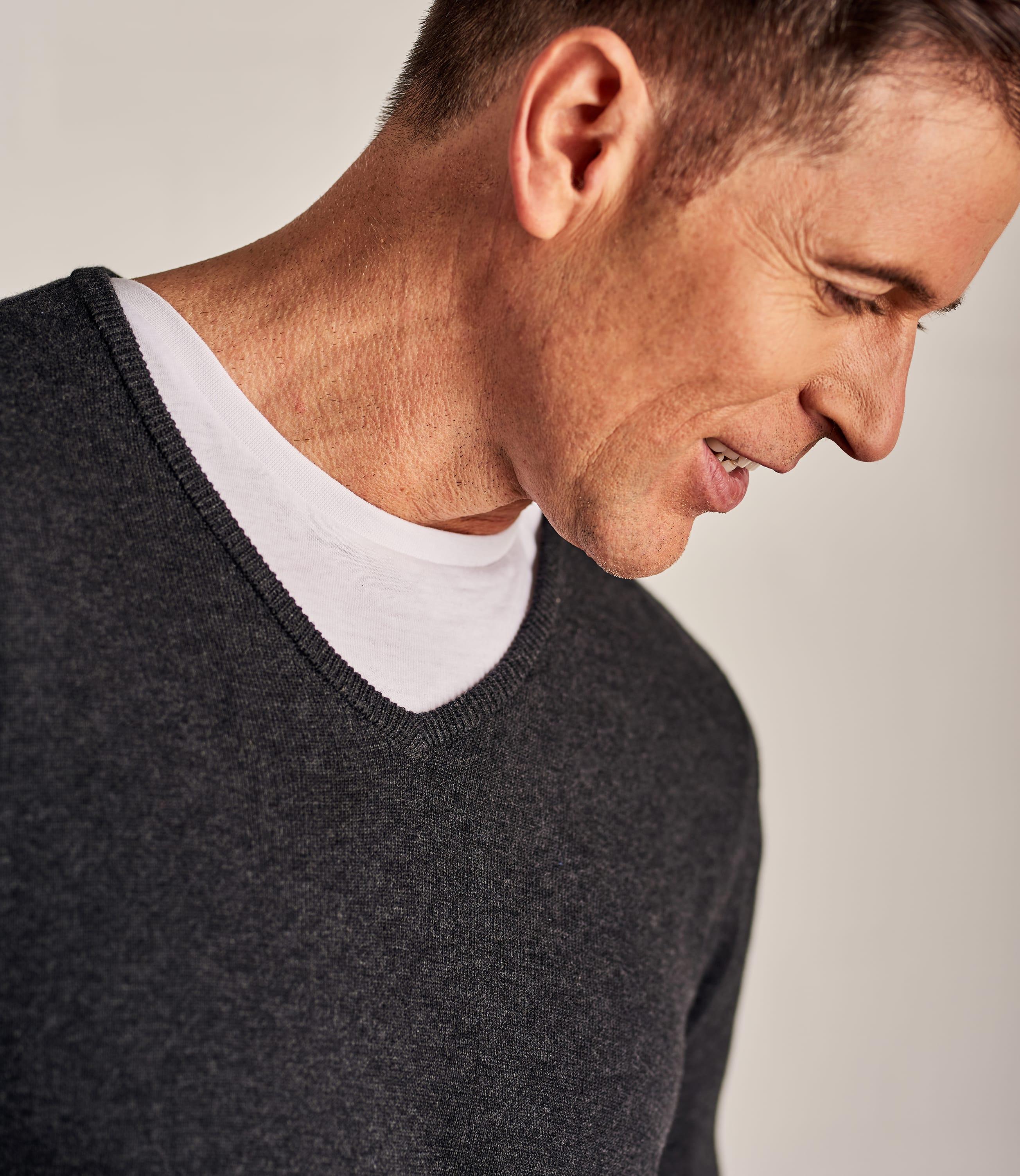 Pullover mit V-Ausschnitt aus Baumwolle für Herren