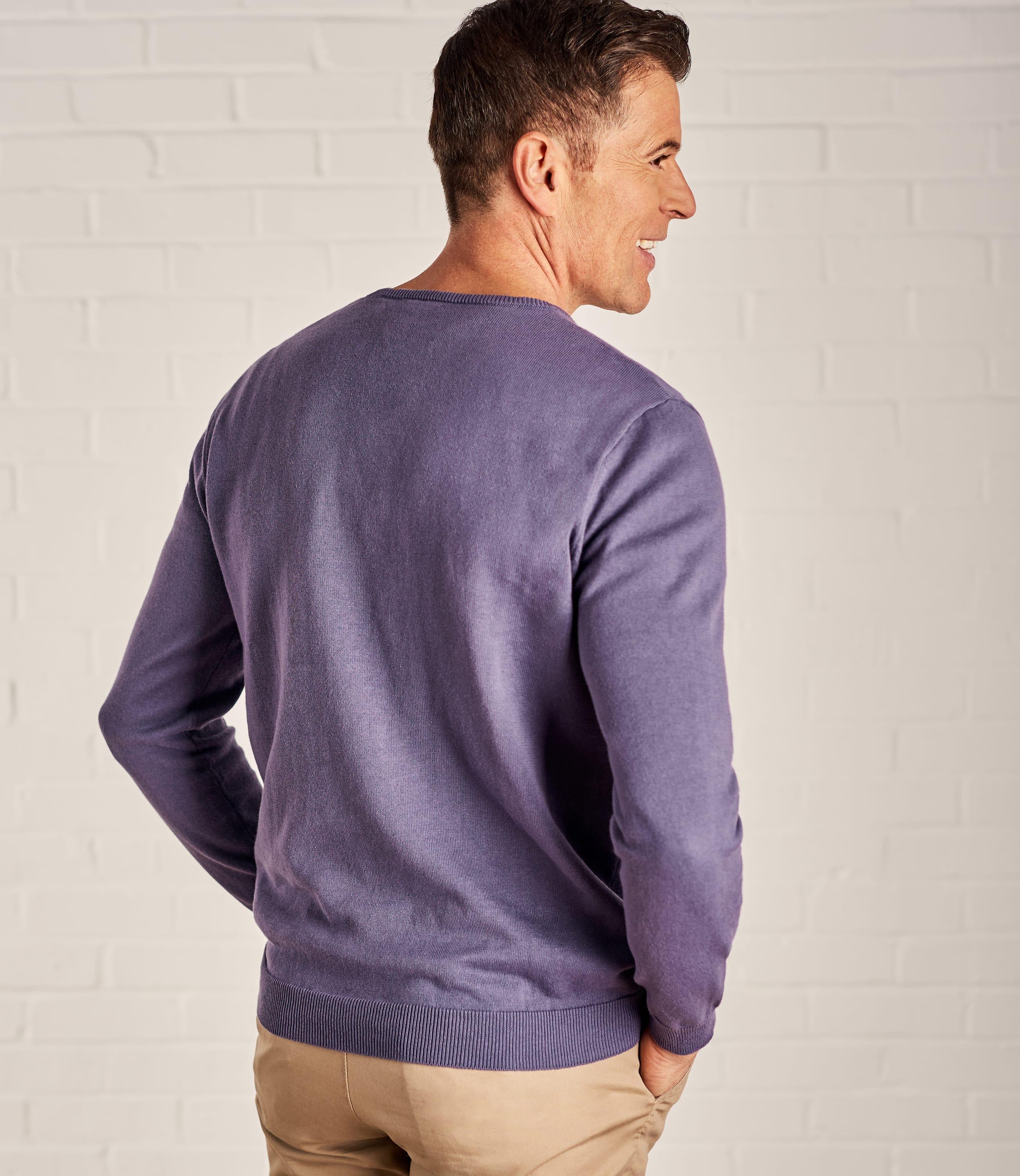 Mens Combed Cotton V Neck Jumper