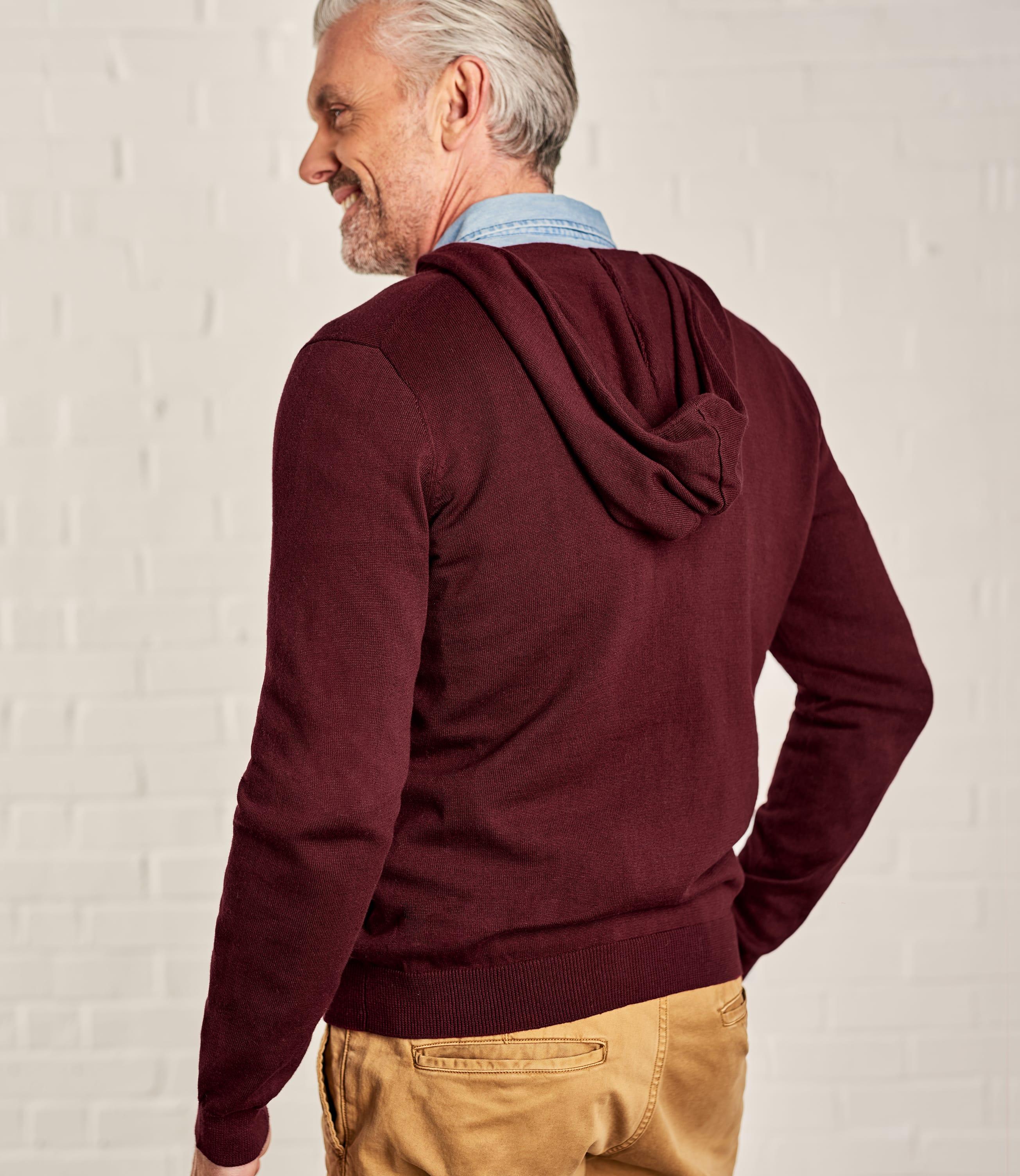 Mens Combed Cotton Zip Through Hoodie