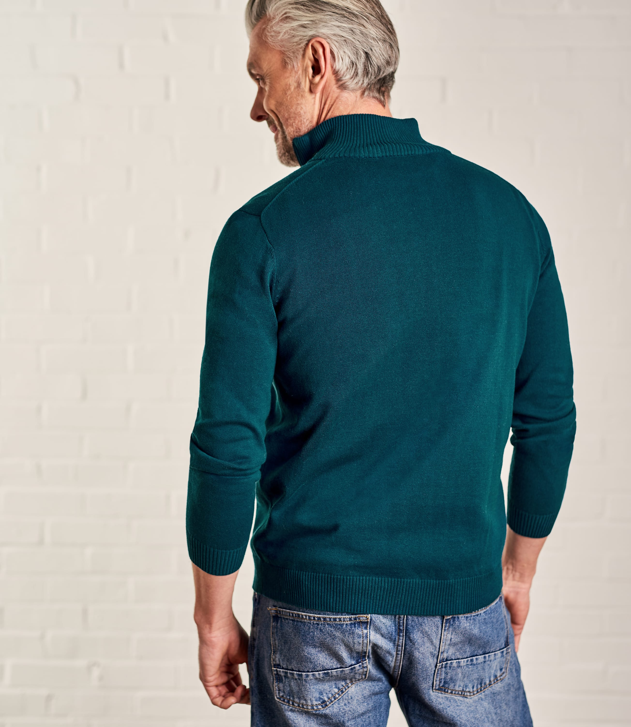Mens Combed Cotton Zip Through Cardi