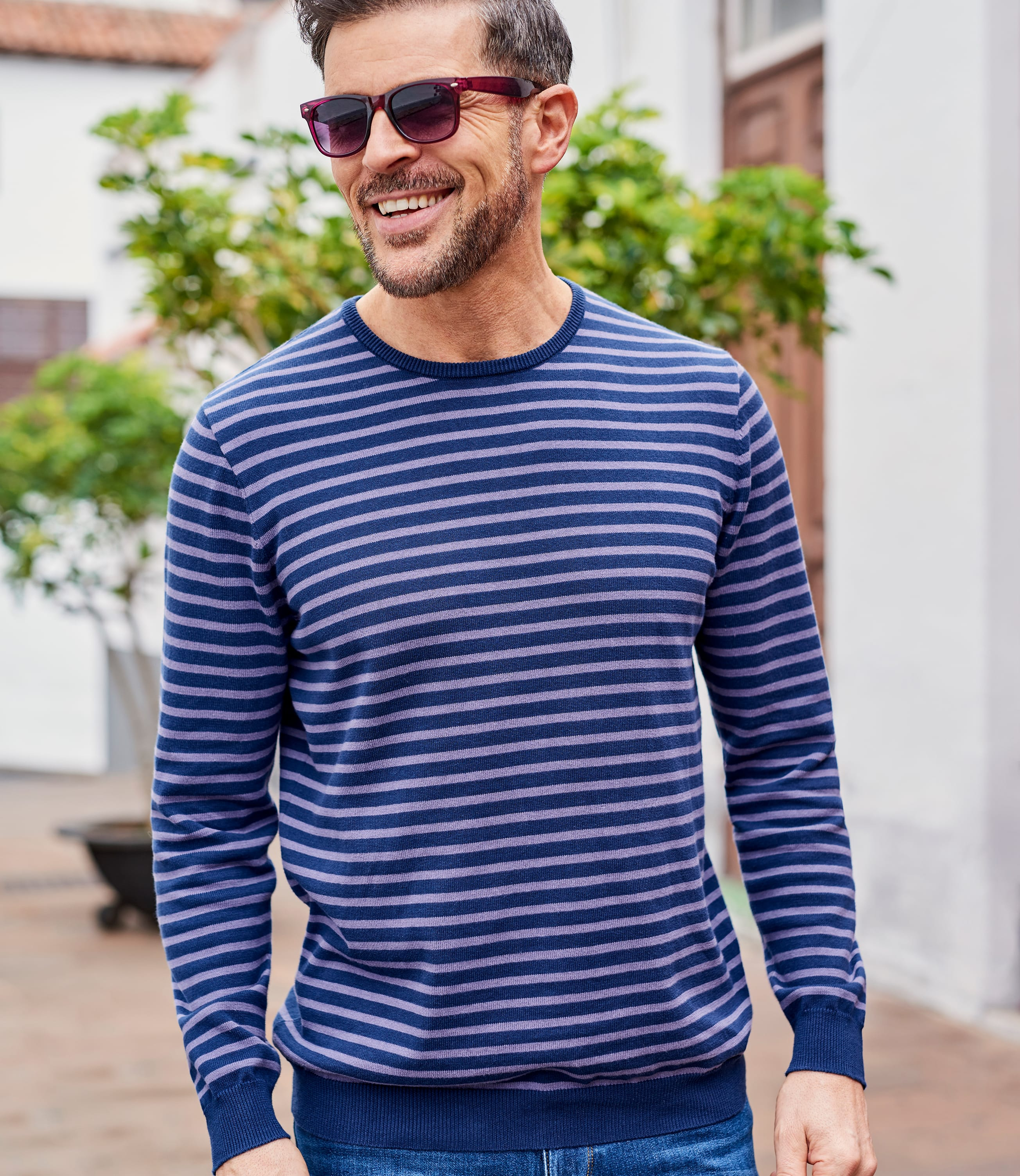 Mens Combed Cotton Crew Neck Jumper
