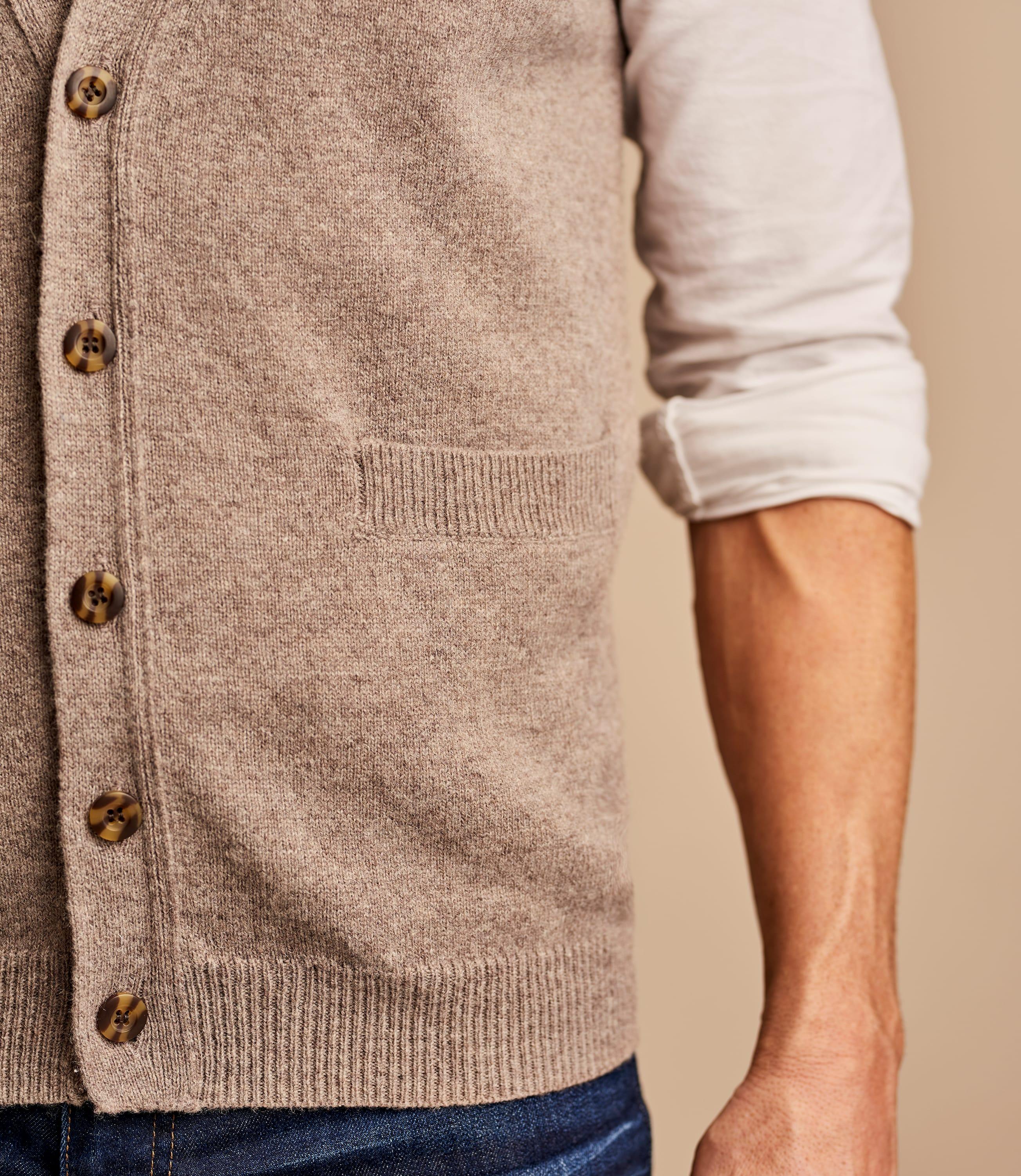 Weste mit Knöpfen aus Lammwolle für Herren