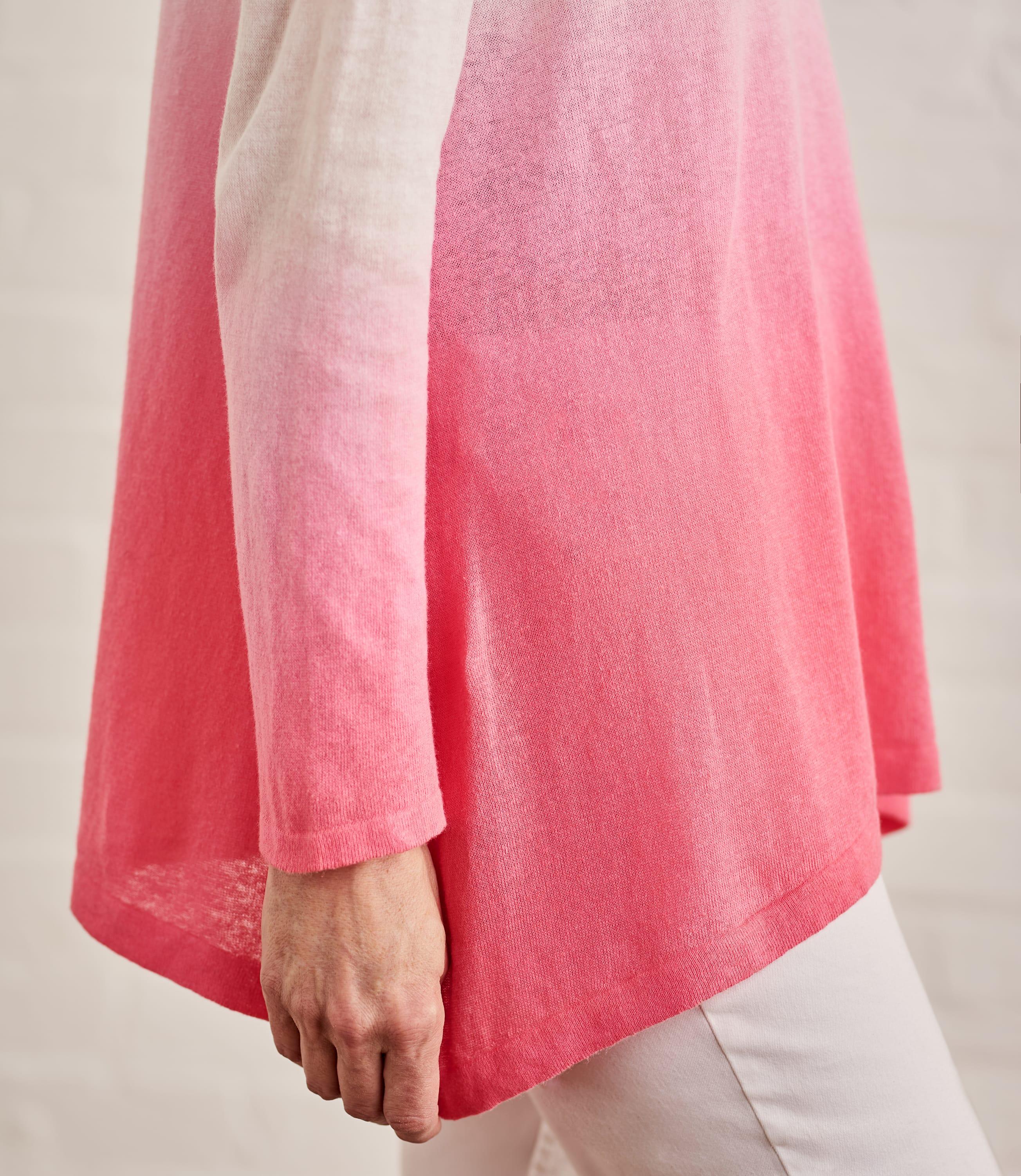 Womens Cotton Blend Dip Dye Jumper