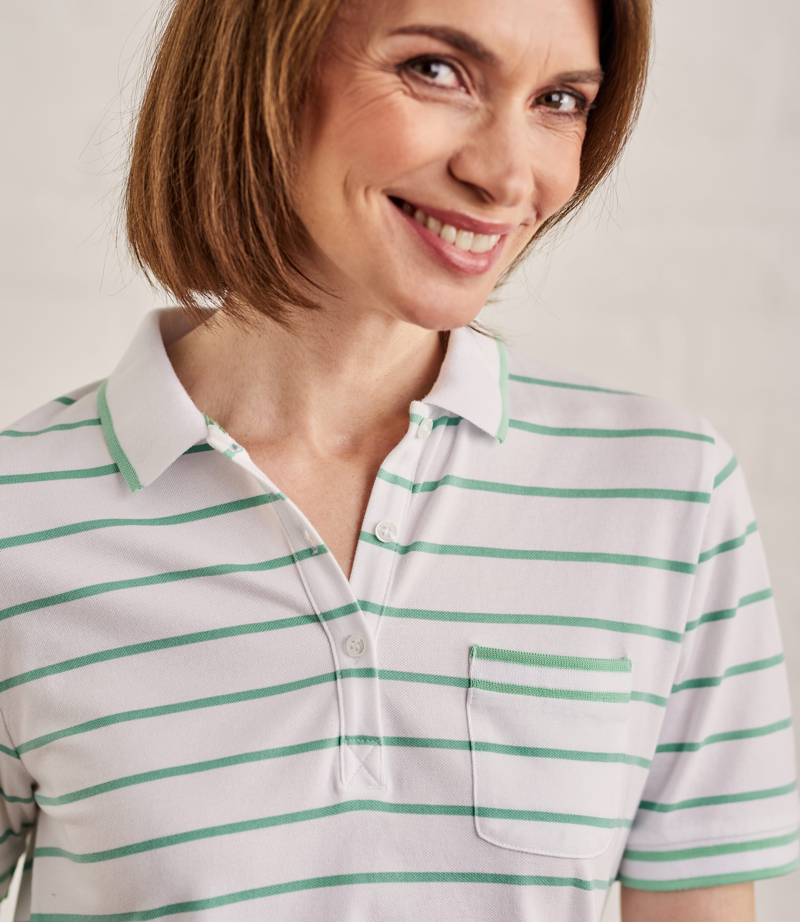 Womens Cotton Pique Polo Shirt With Tipping