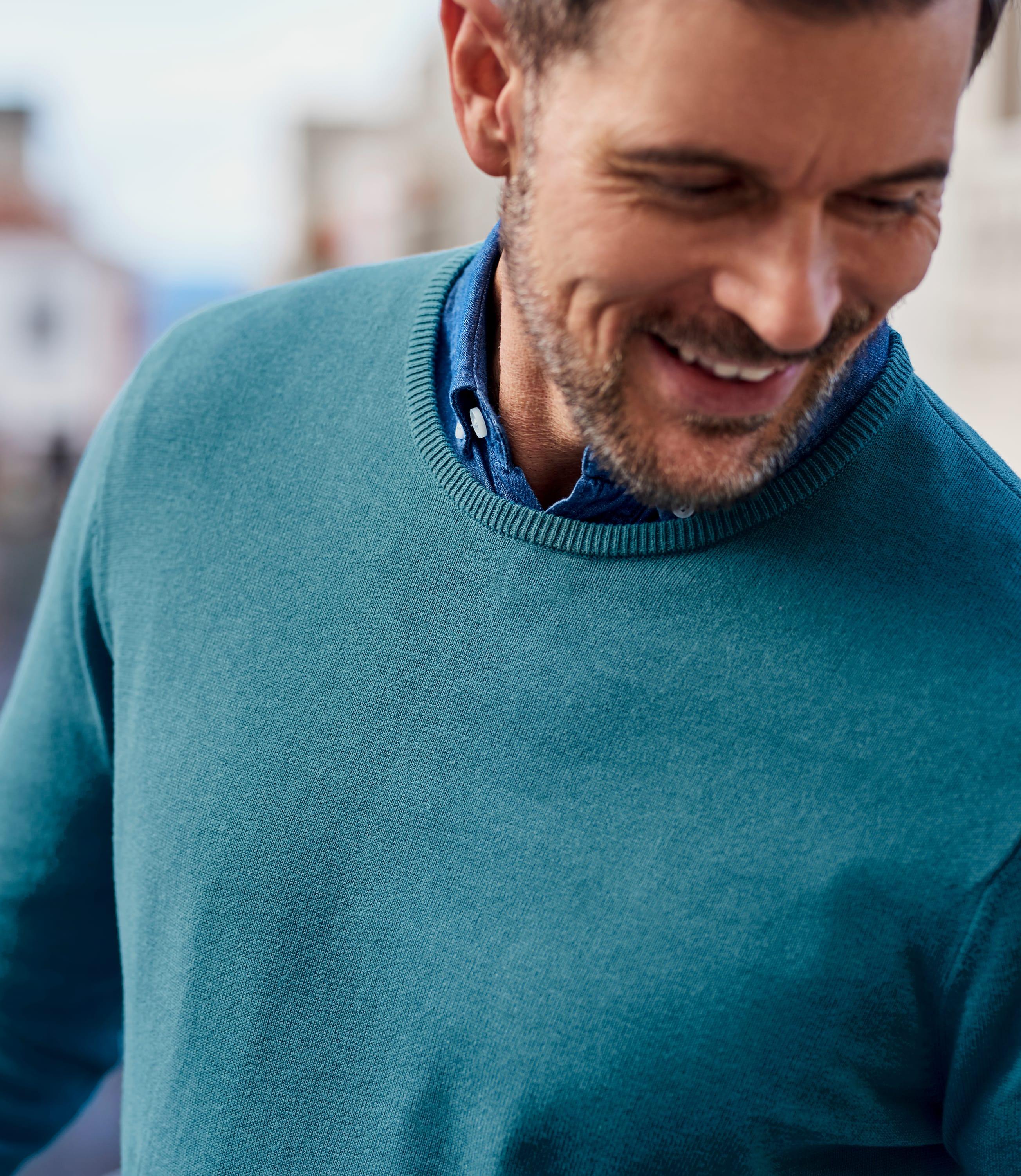 Pullover aus Baumwolle mit Rundhalsausschnitt für Herren