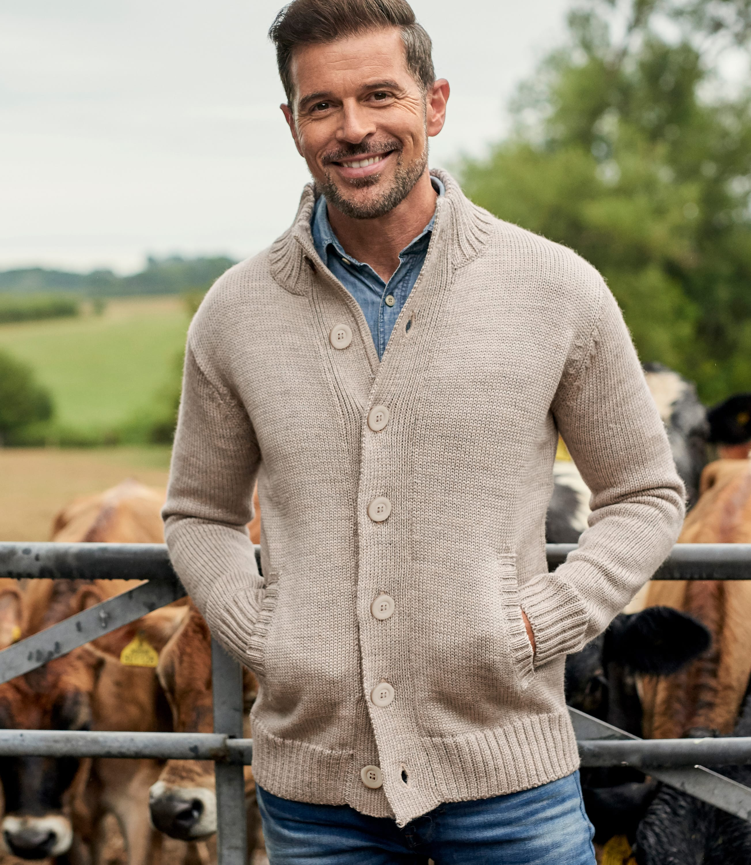 100% Pure Wool Button Everyday Cardigan