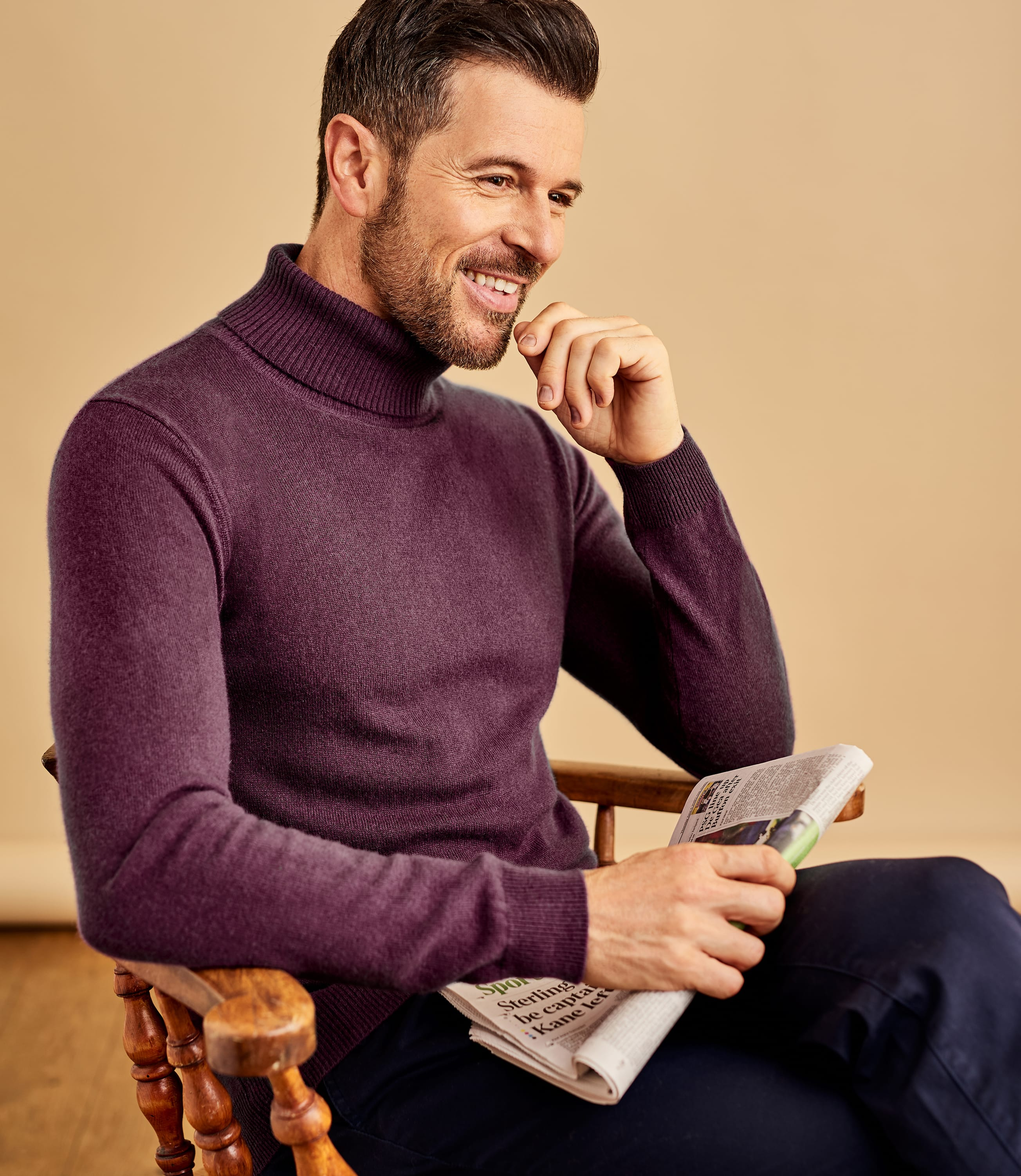 Cashmere and Merino Turtle Neck Sweater