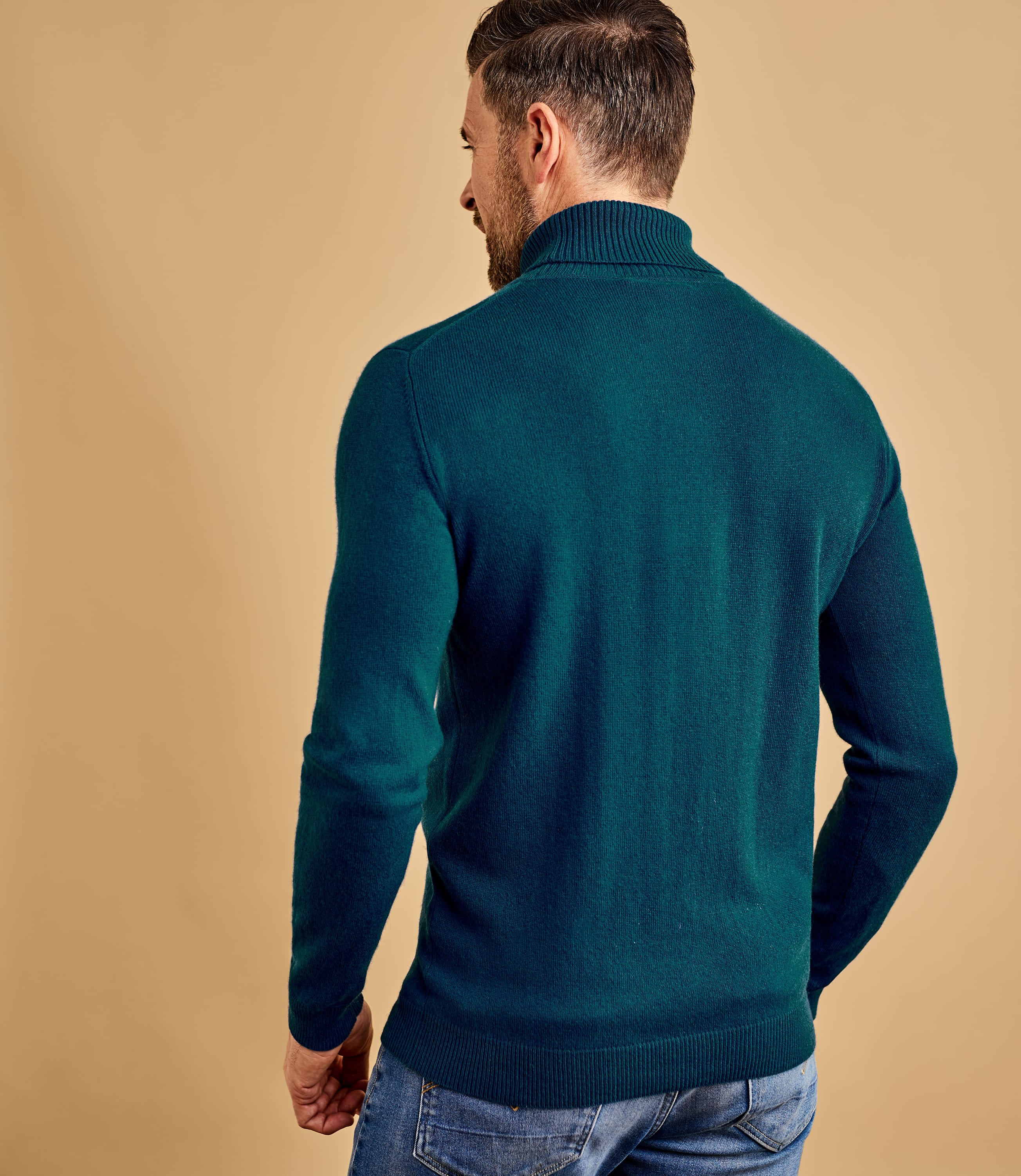 Cashmere and Merino Polo Neck Jumper