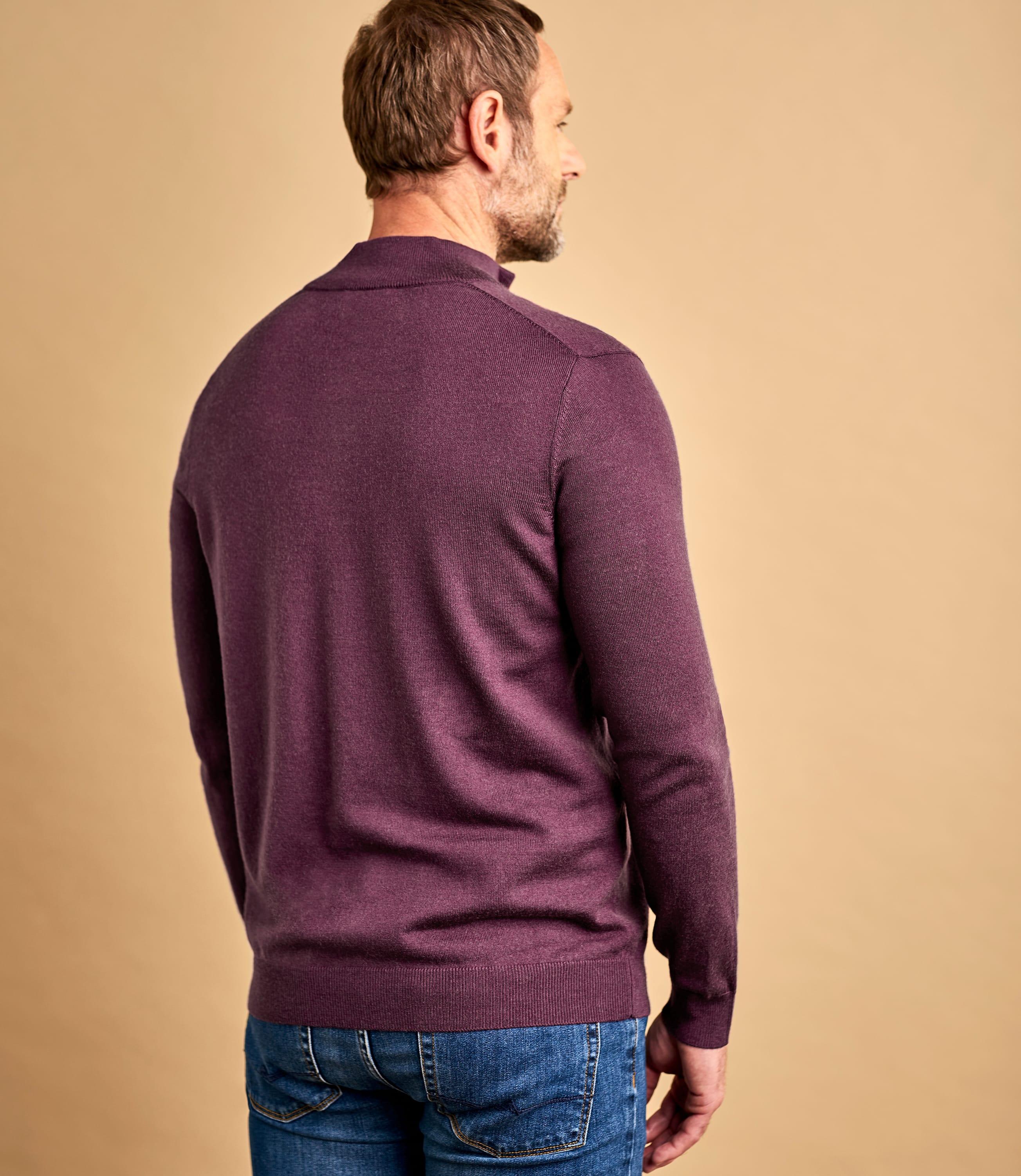 Pullover aus Merinowolle mit kurzem Reißverschluss für Herren