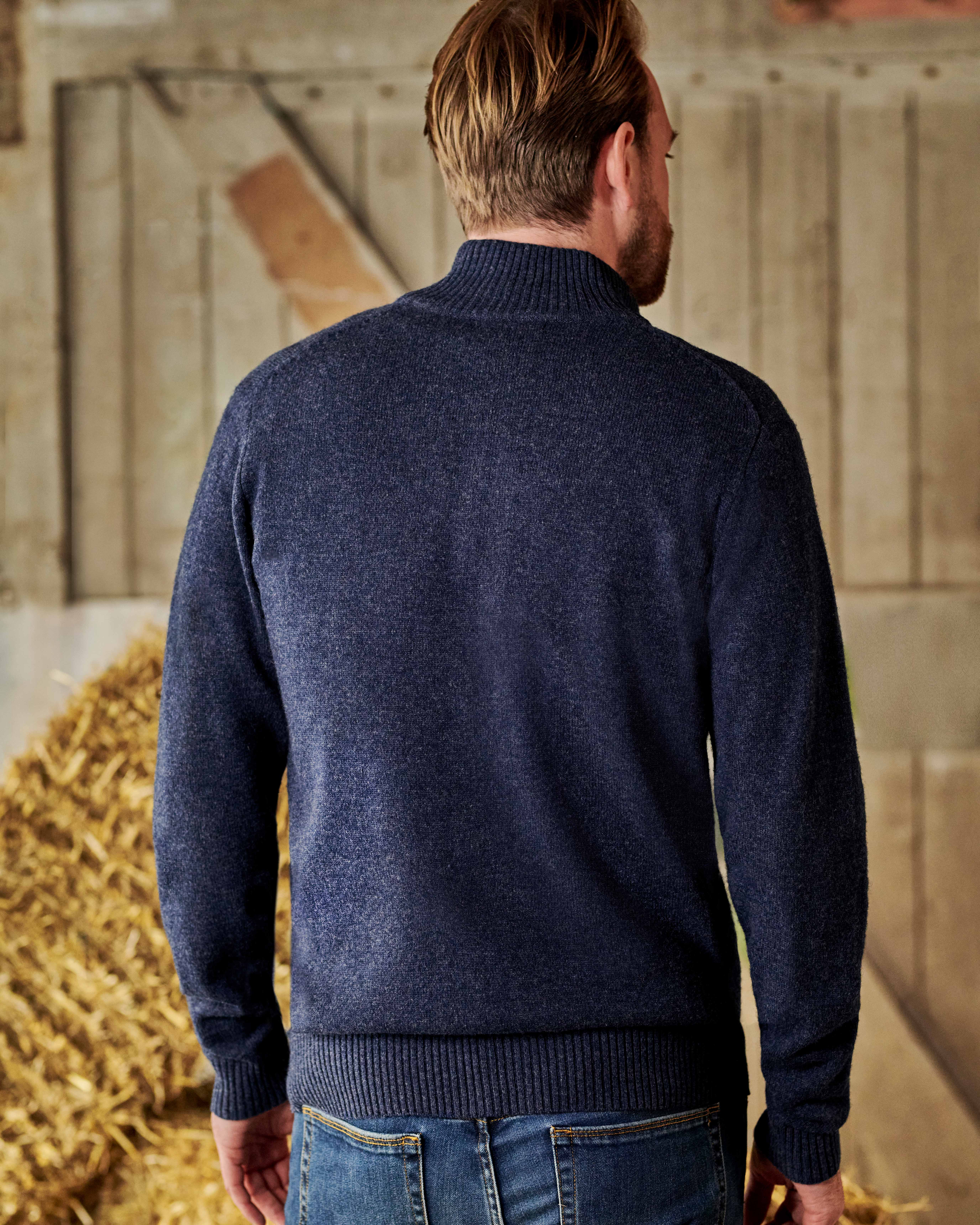 Pure Lambswool Lincoln Zipper Cardigan