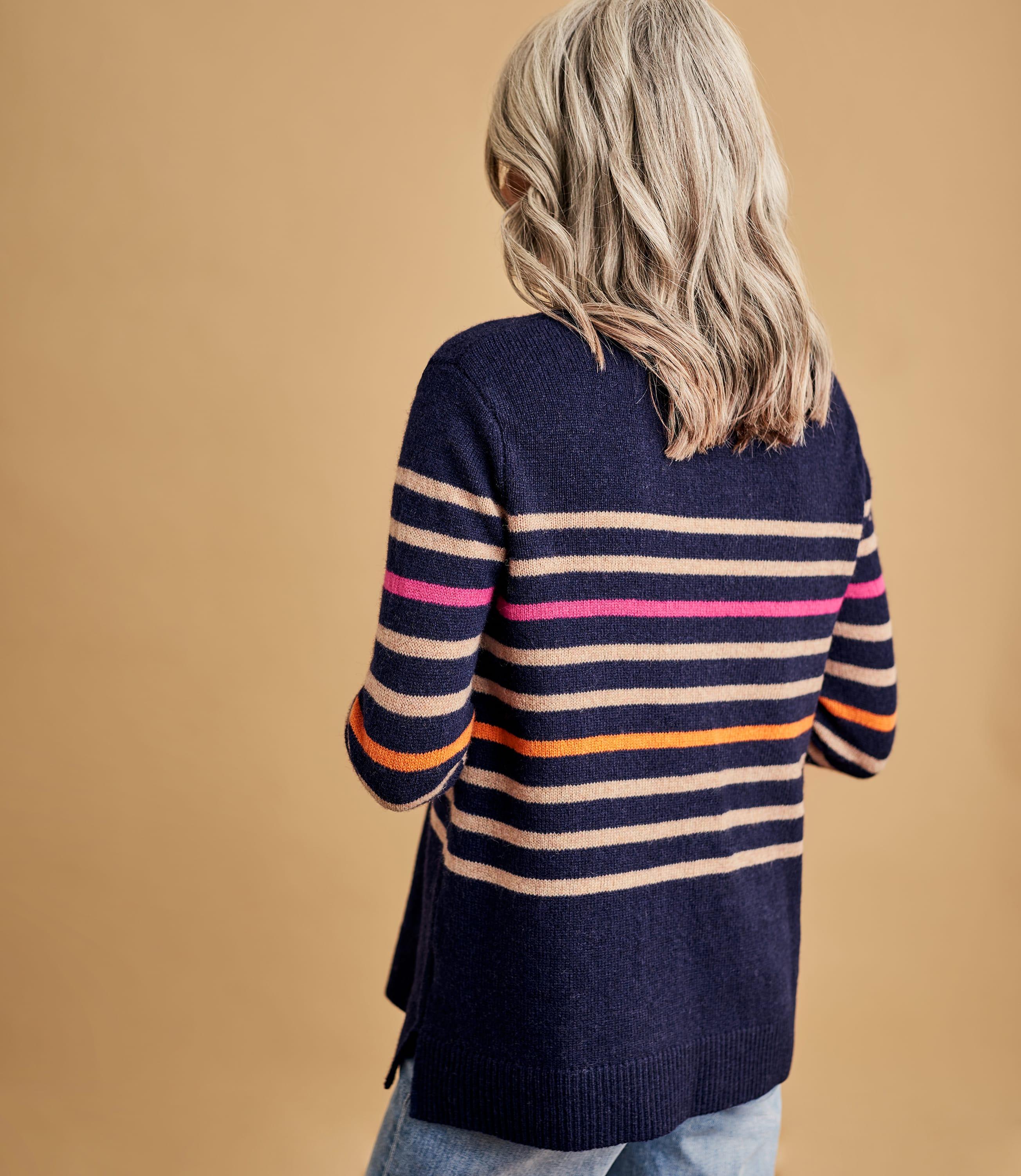 Womens Pure Merino Stripe Jumper