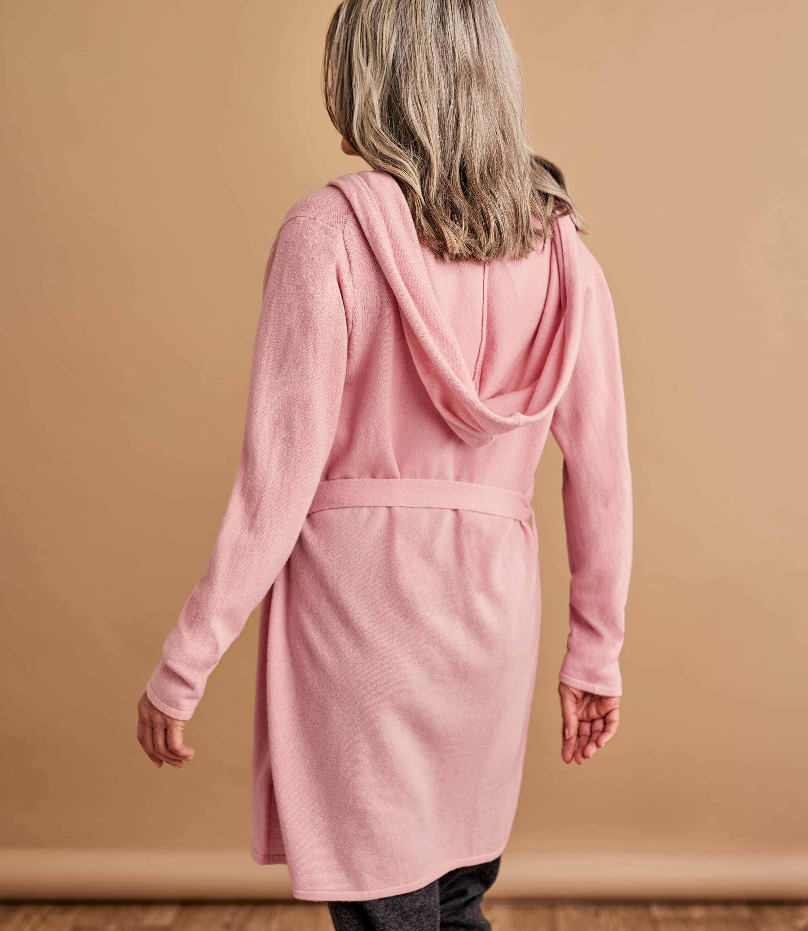 Womens Short Dressing Gown With Hood