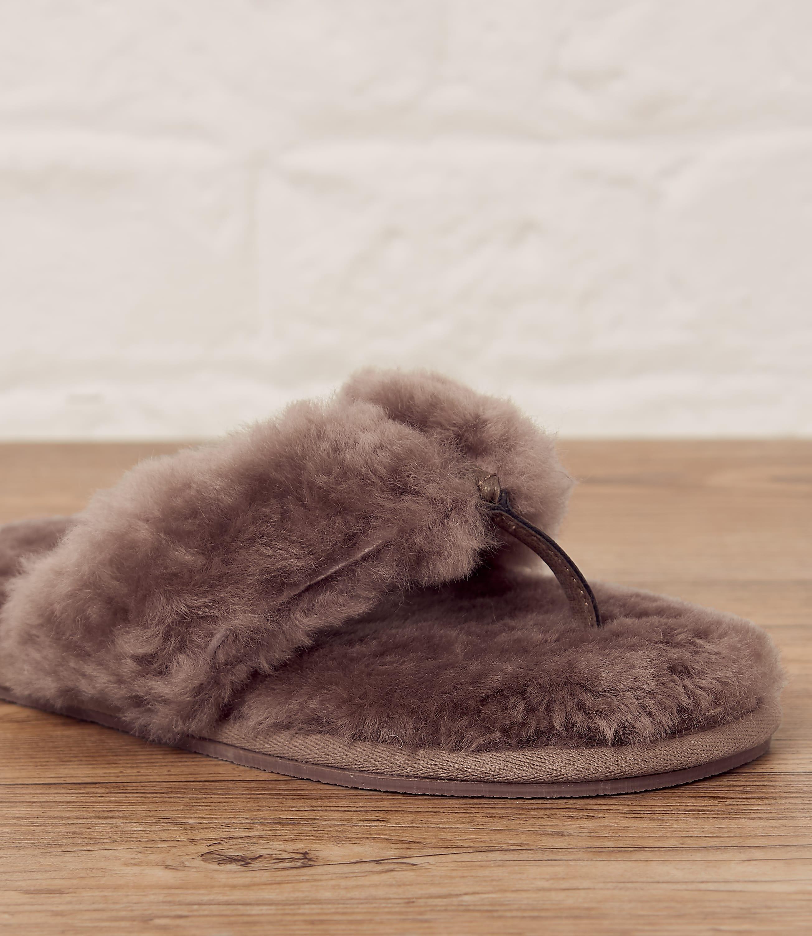 Ladies Toe Post Mule Slippers