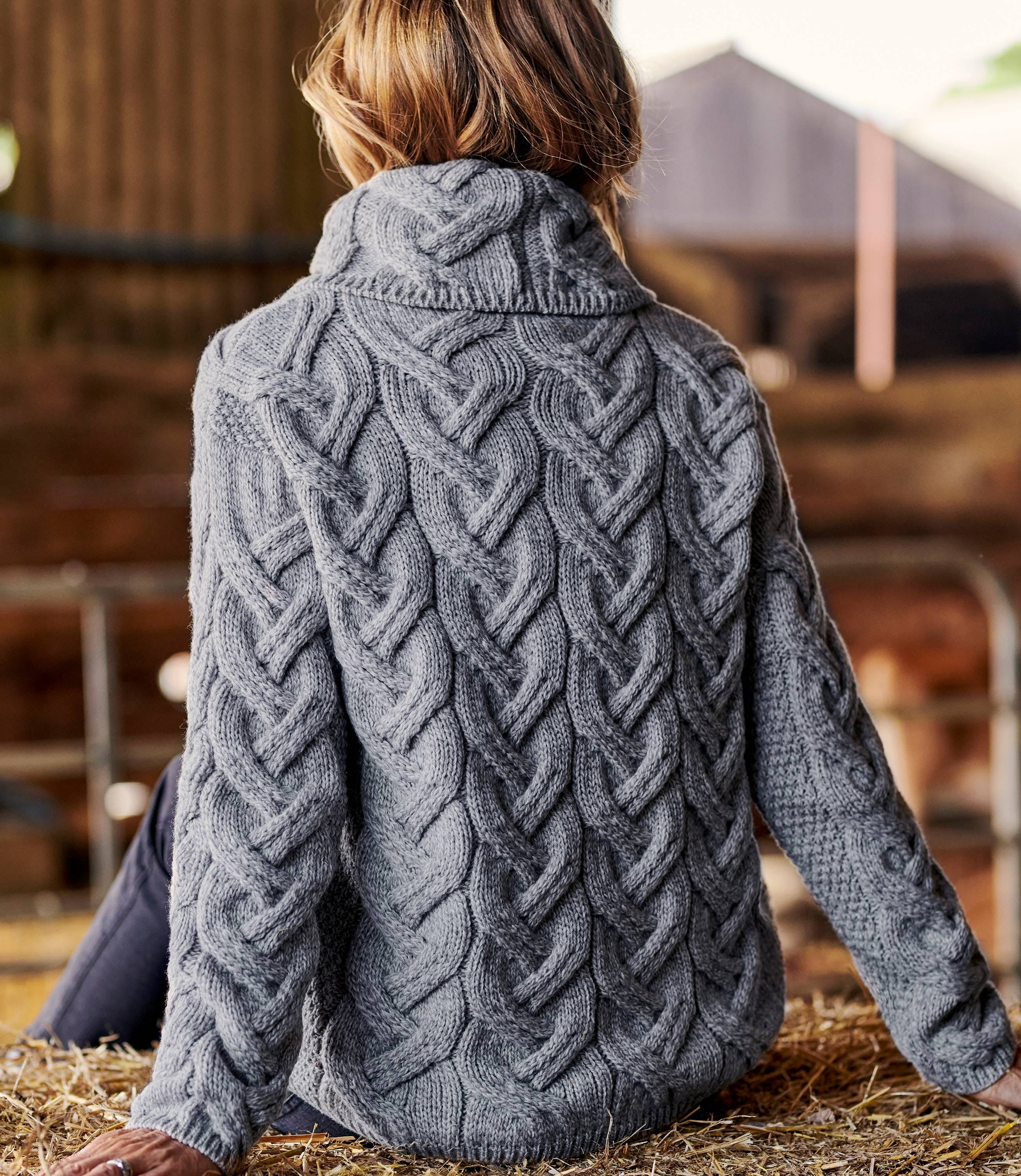 Merino Super Soft Cowl Cable Sweater