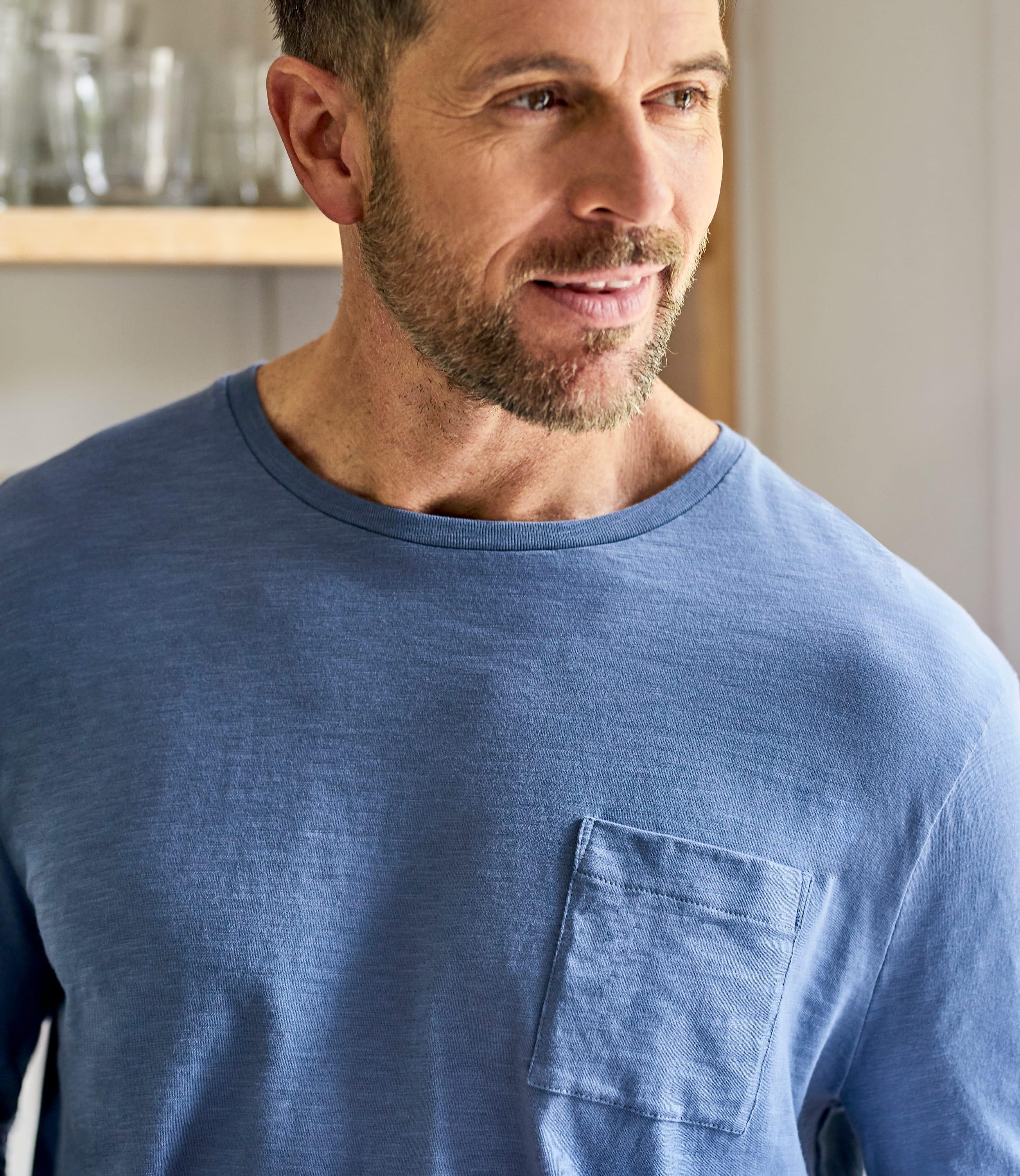 Mens Organic Cotton Long Sleeve T-Shirt