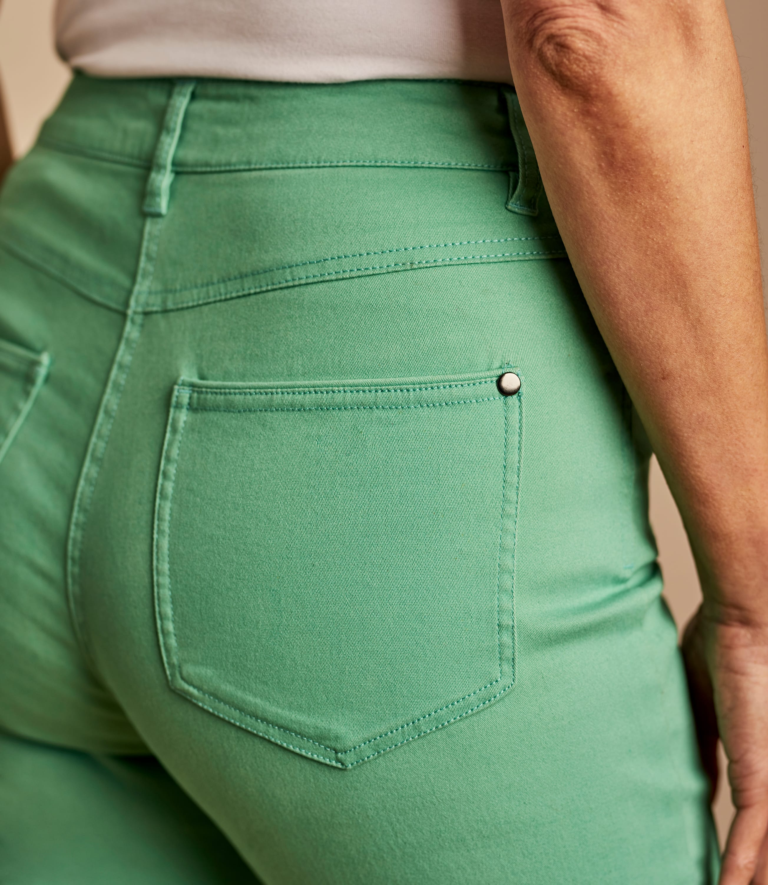 Womens Cropped Colour Jeans