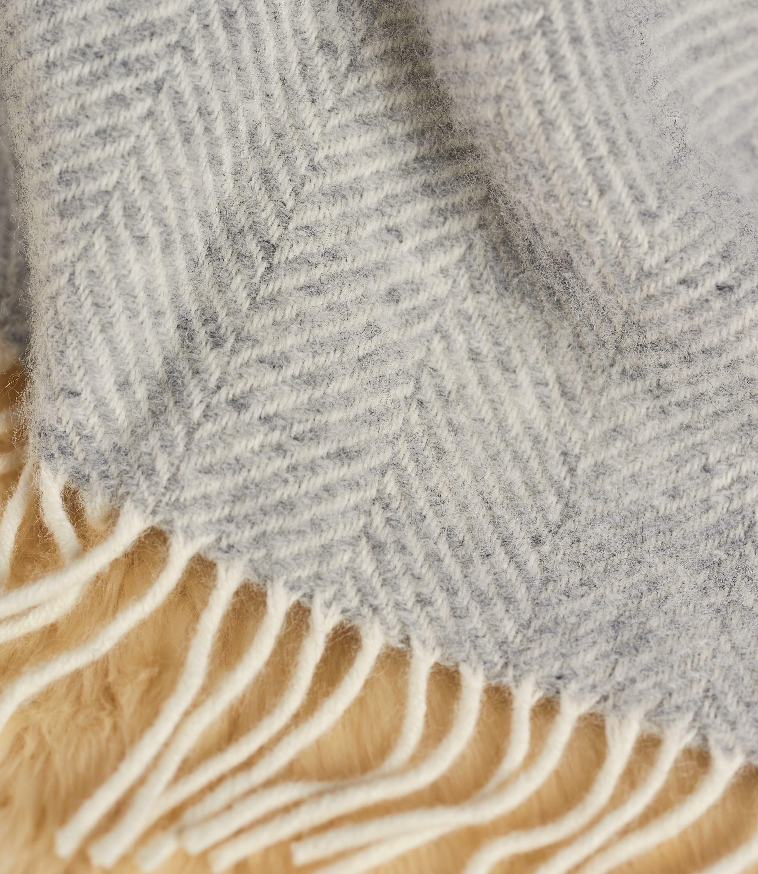 Pure New Wool Fishbone Throw