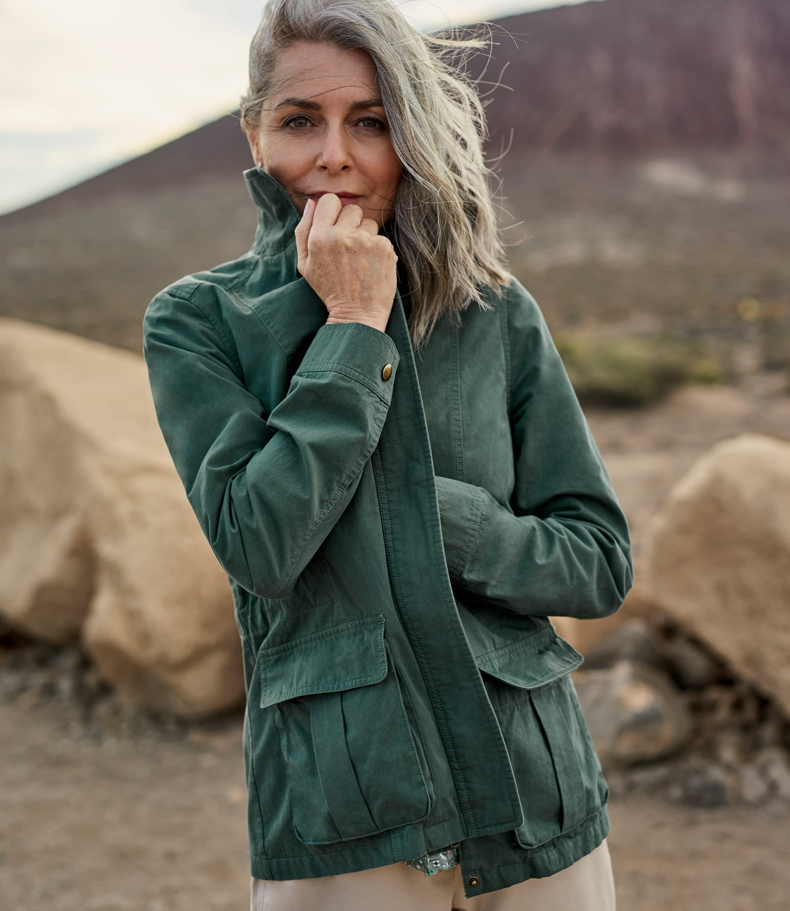 Veste saharienne - Femme - Pur Coton
