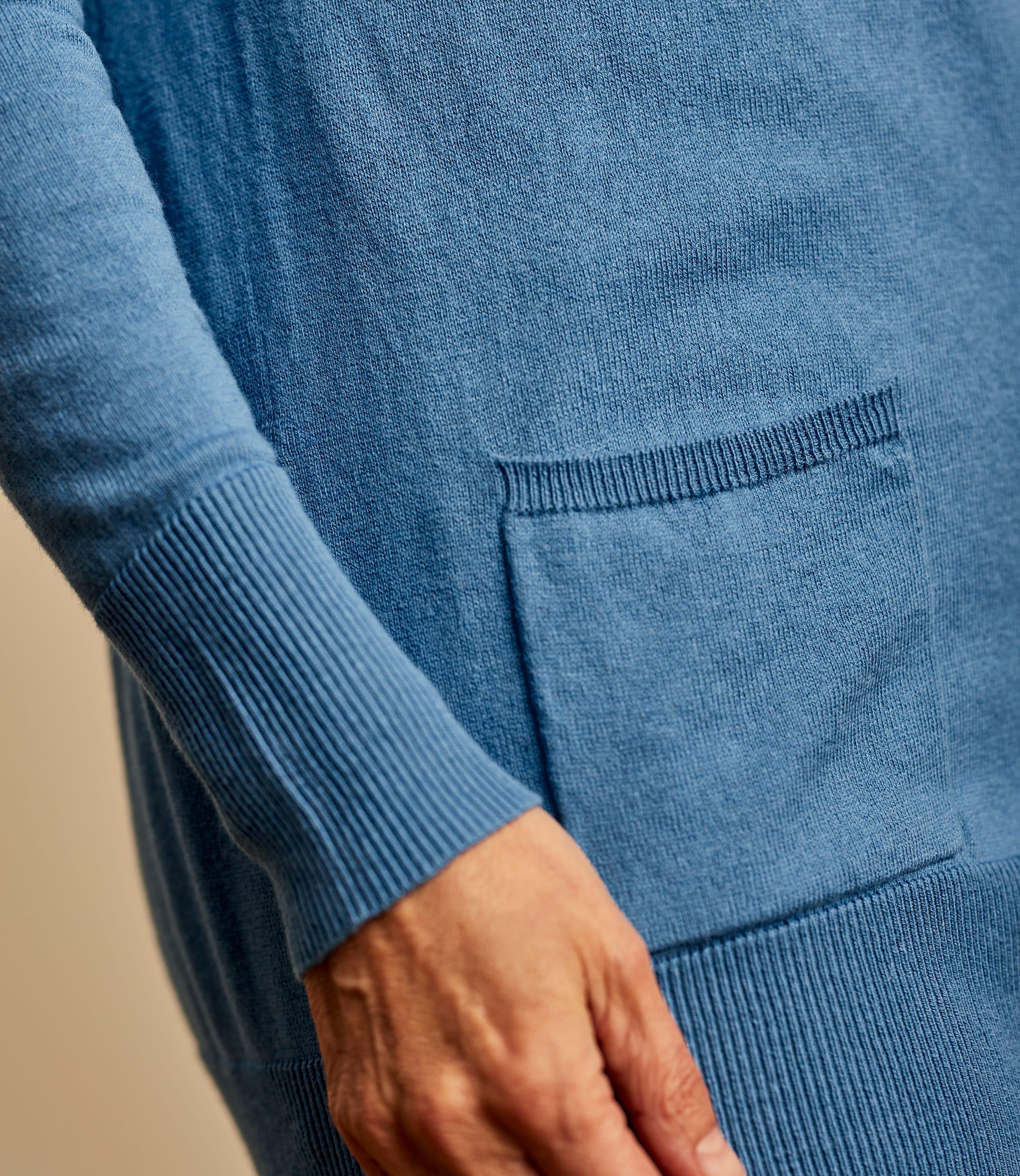 Silk and Cotton Long Cardigan