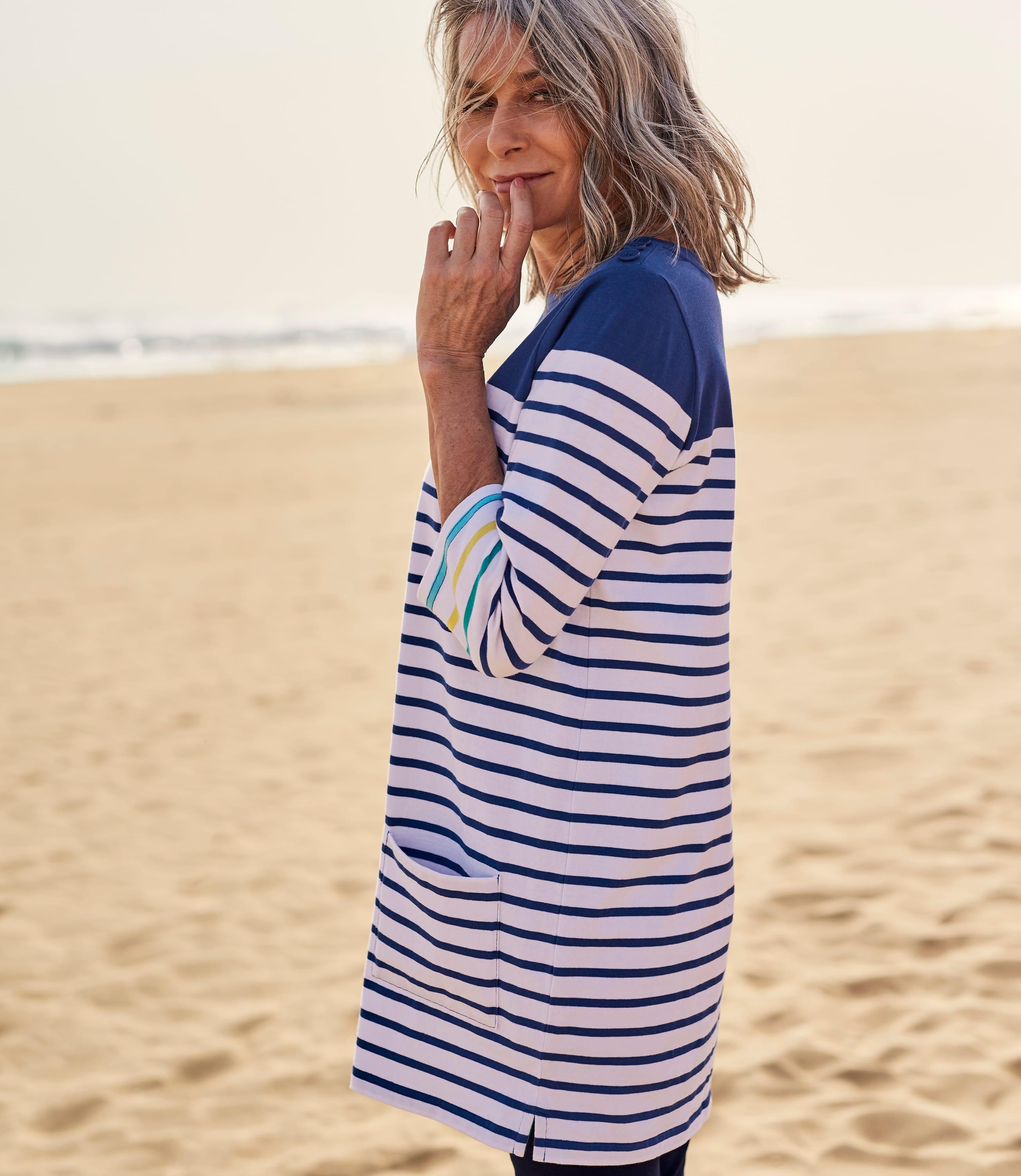 Tunique à rayures marinières - Femme - Jersey