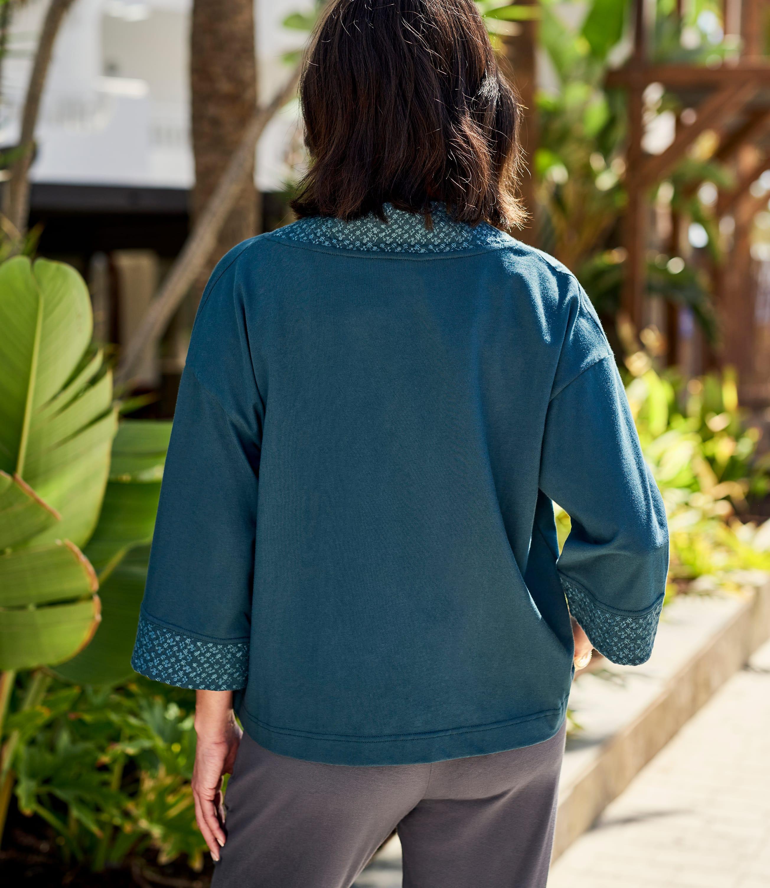 Bestickte Jersey-Jacke für Damen